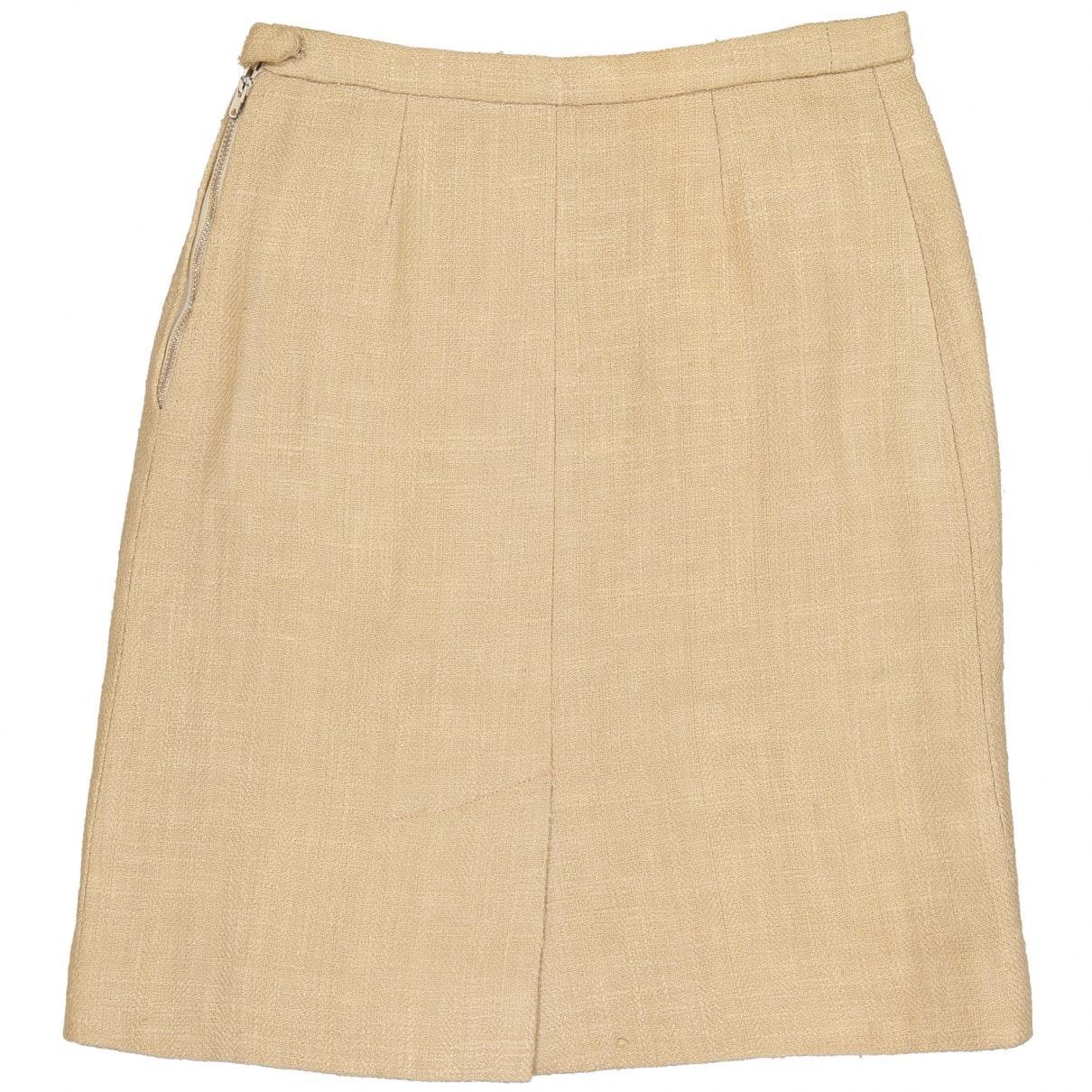 Falda en lino beige N Hermès de Lino de color Neutro