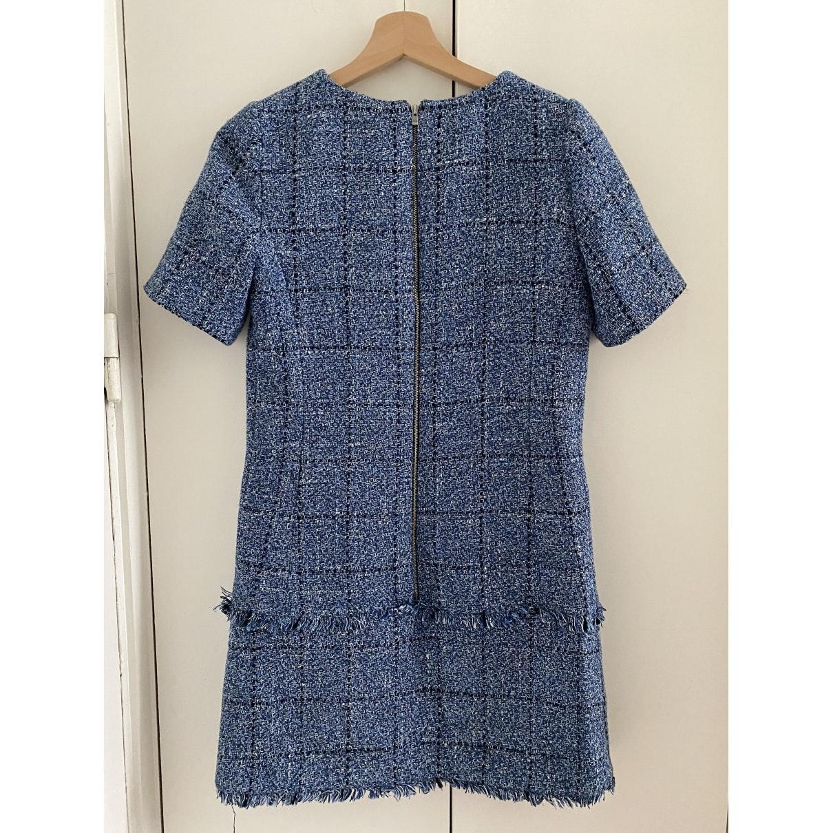Robe en Tweed Bleu Claudie Pierlot en coloris Bleu