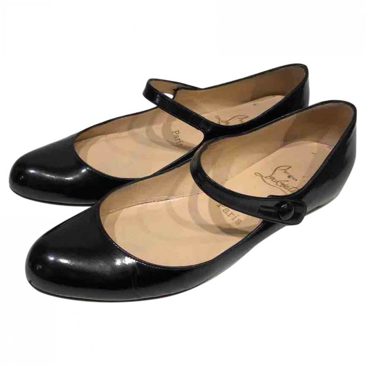 c066bfc26777 Lyst - Christian Louboutin Patent Leather Ballet Flats in Black