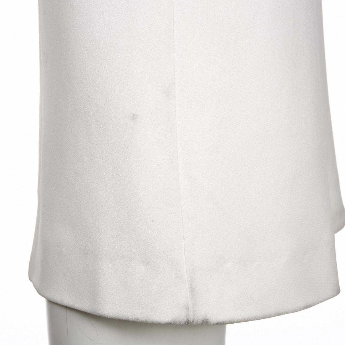 Vestido en viscosa blanco Roland Mouret de color Blanco
