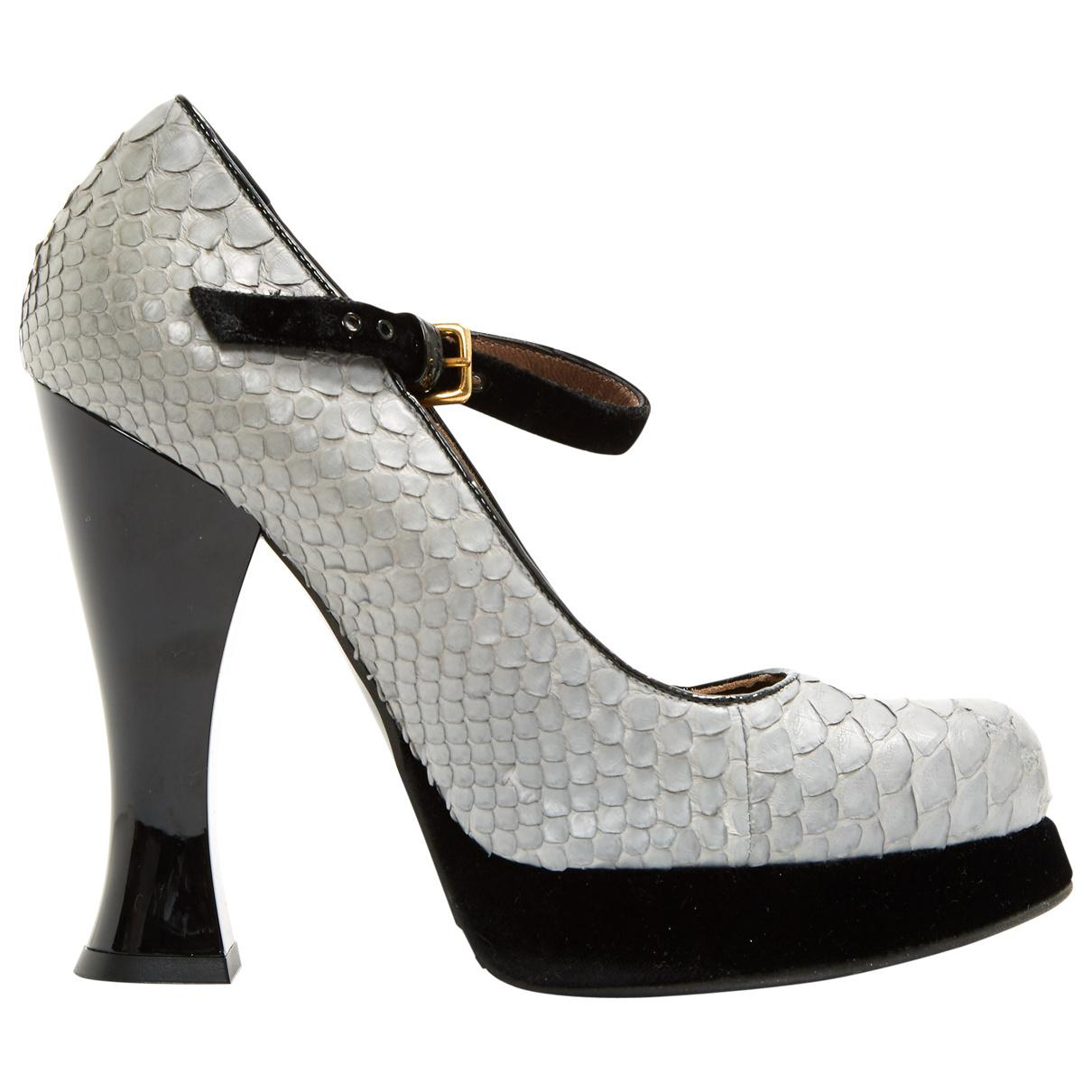 Pre-owned - Python heels Marni ctBaZ