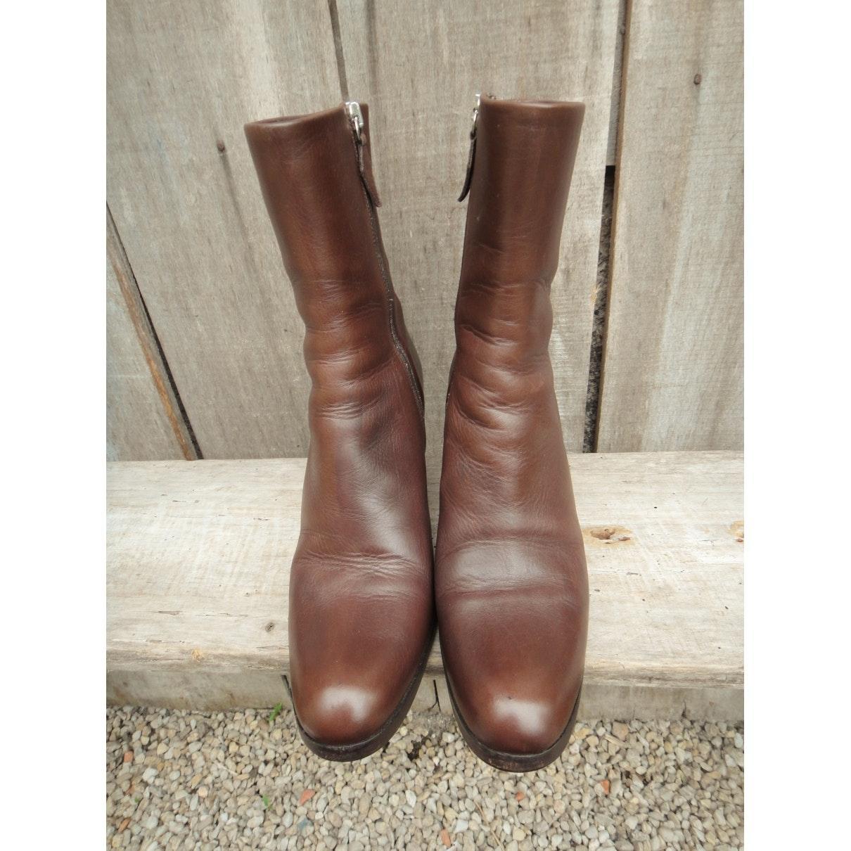 Botines en cuero marrón Jil Sander de Cuero de color Marrón