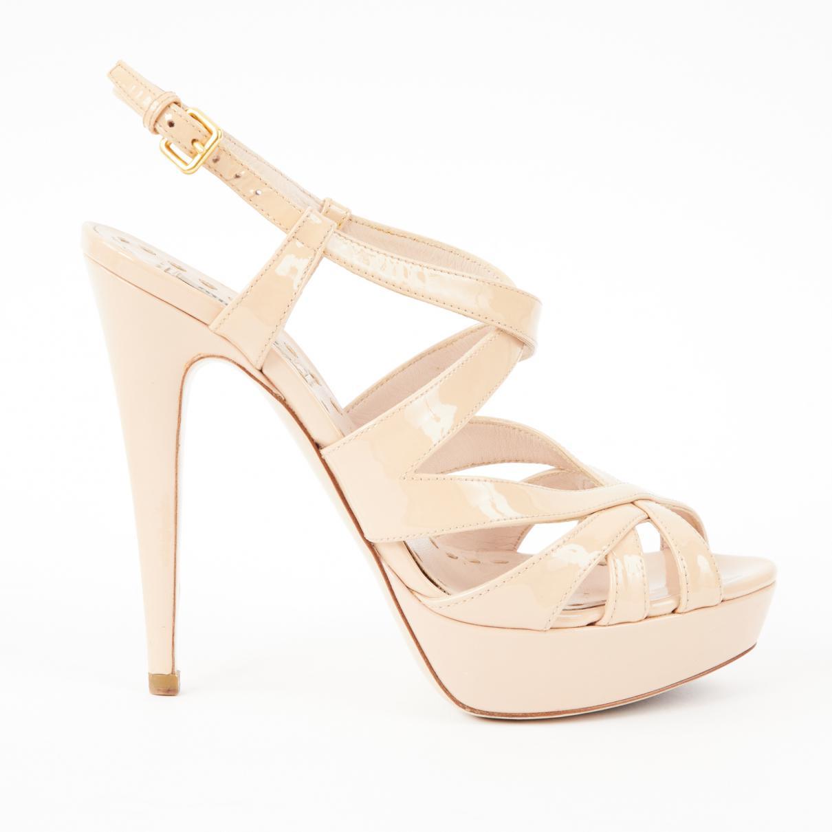 Pre-owned - Pink Patent leather Sandals Miu Miu 8ZgRnp