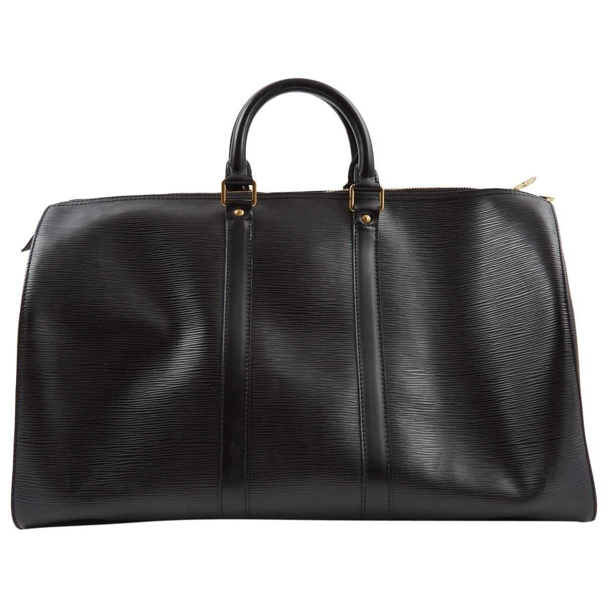 a2cb1bc584cd Lyst - Louis Vuitton Keepall Leather Bag in Black for Men