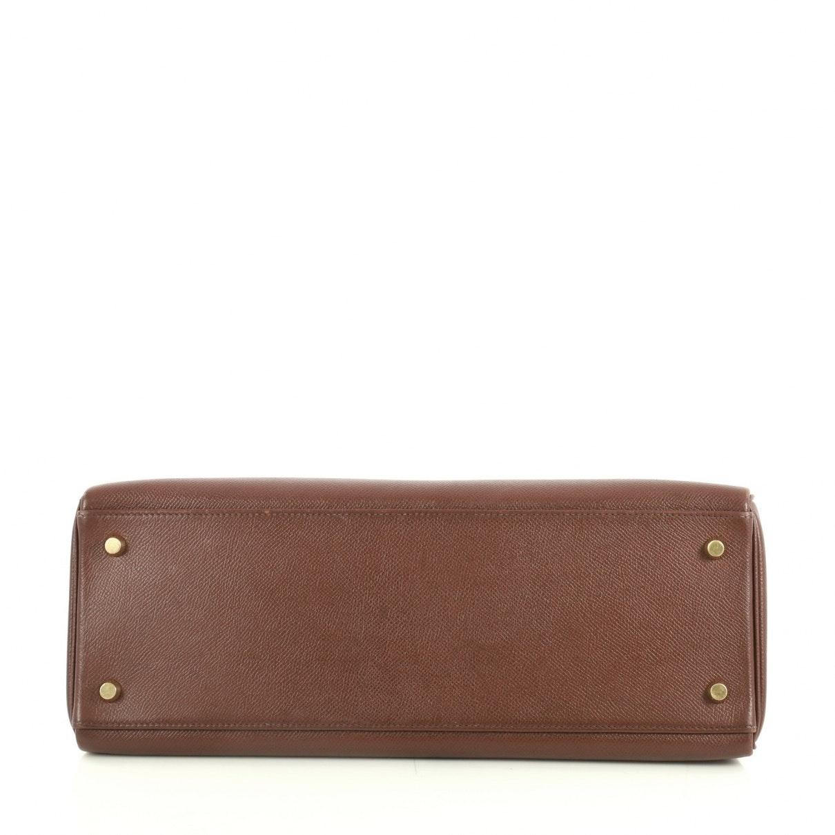 Hermès Kelly 35 Leder Handtaschen in Braun b1R4d