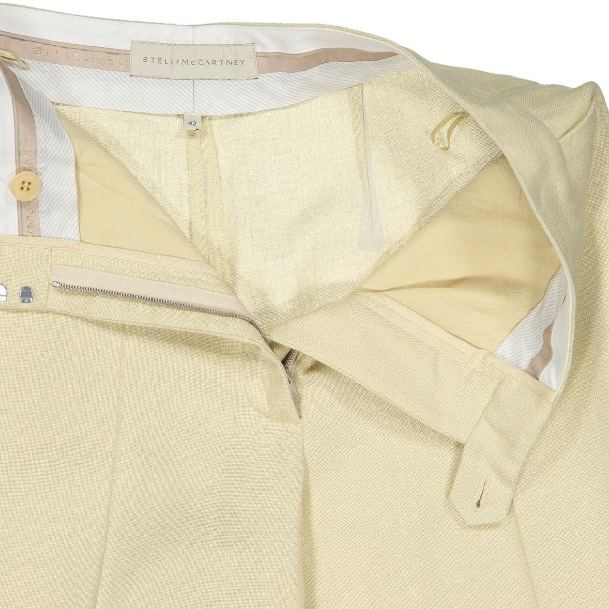 Pantalones en viscosa beige Stella McCartney de color Neutro