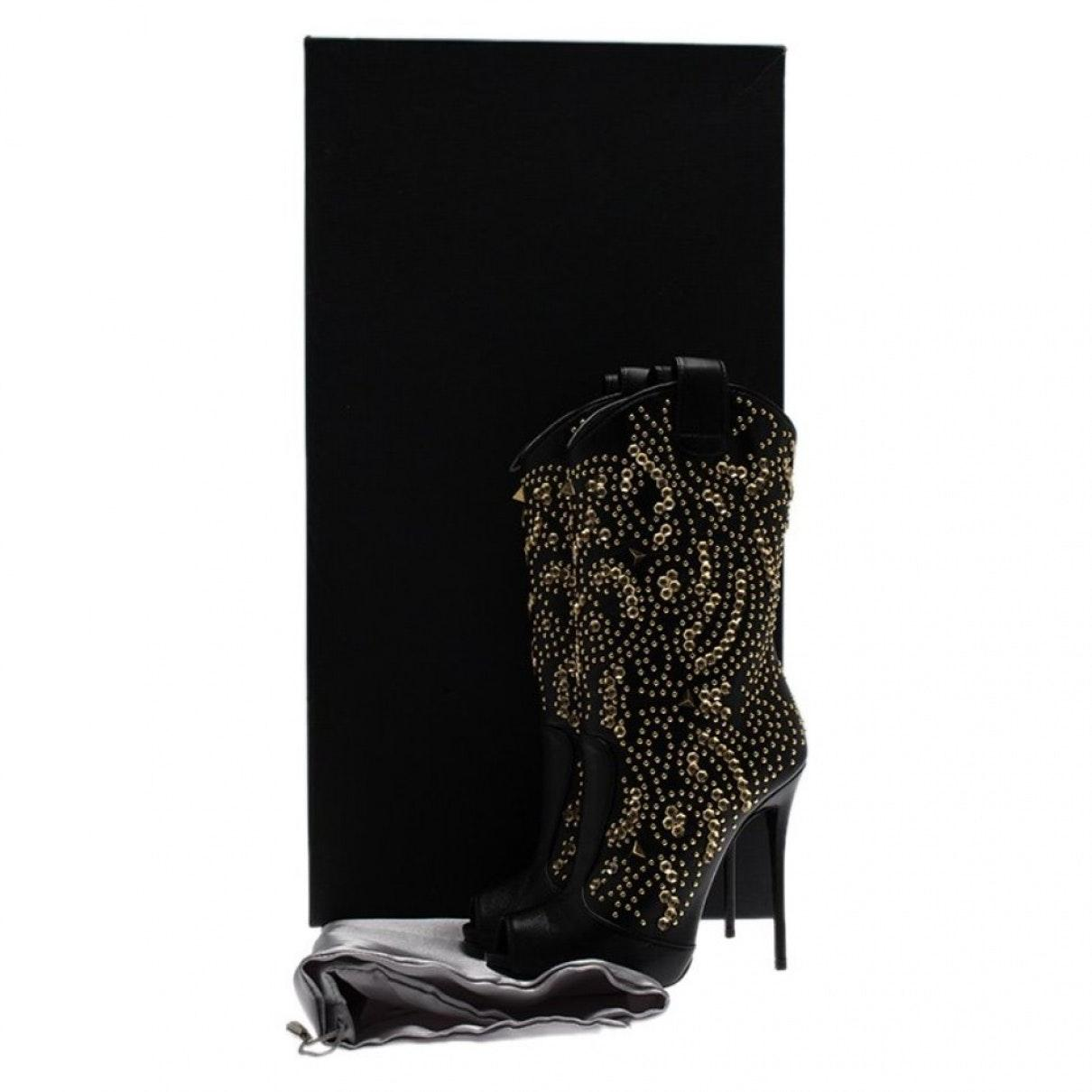 Botas en cuero negro Giuseppe Zanotti de color Negro