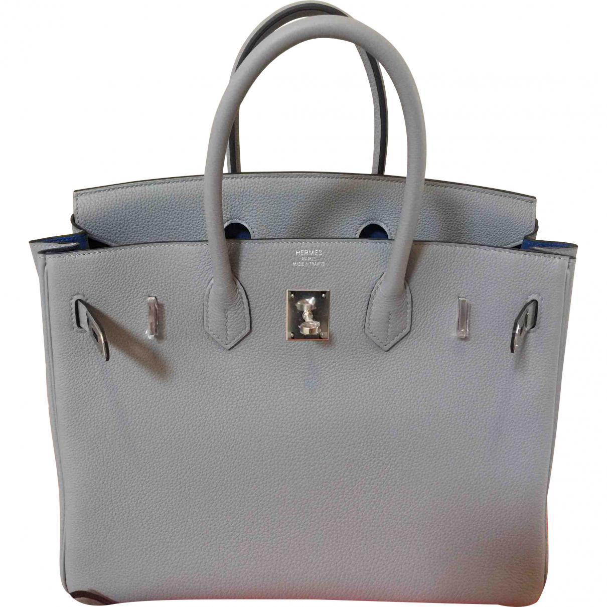 f79a179e36 Lyst - Hermès Birkin 35 Leather Bag in Gray