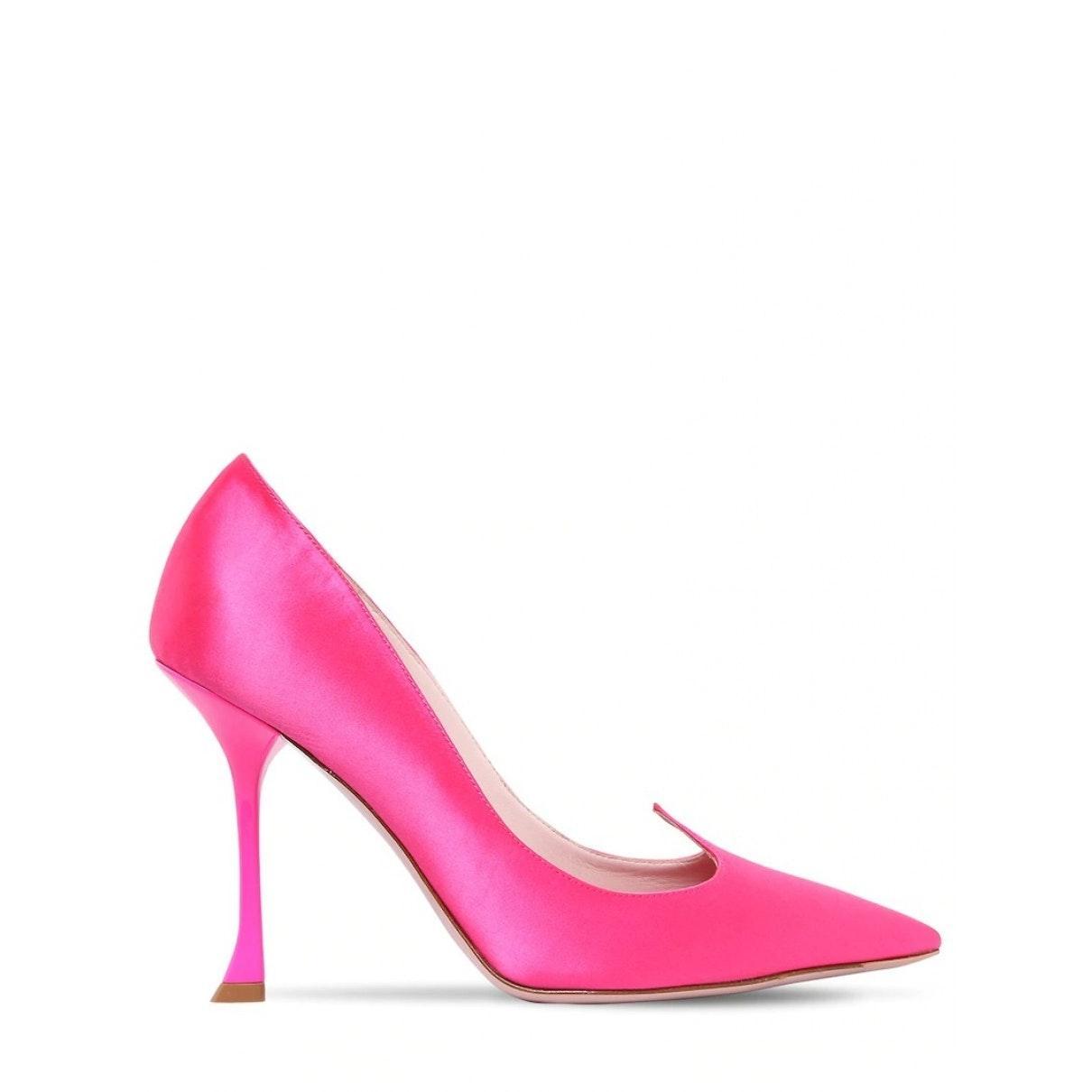 Tacones en lona rosa N Roger Vivier de color Rosa