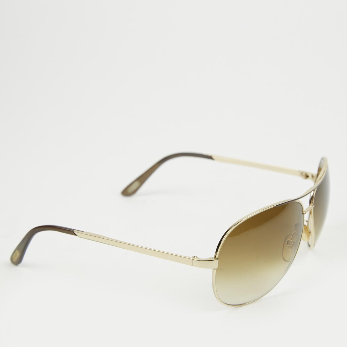 59d0239c1f0b Tom Ford - Metallic Aviator Sunglasses - Lyst. View fullscreen