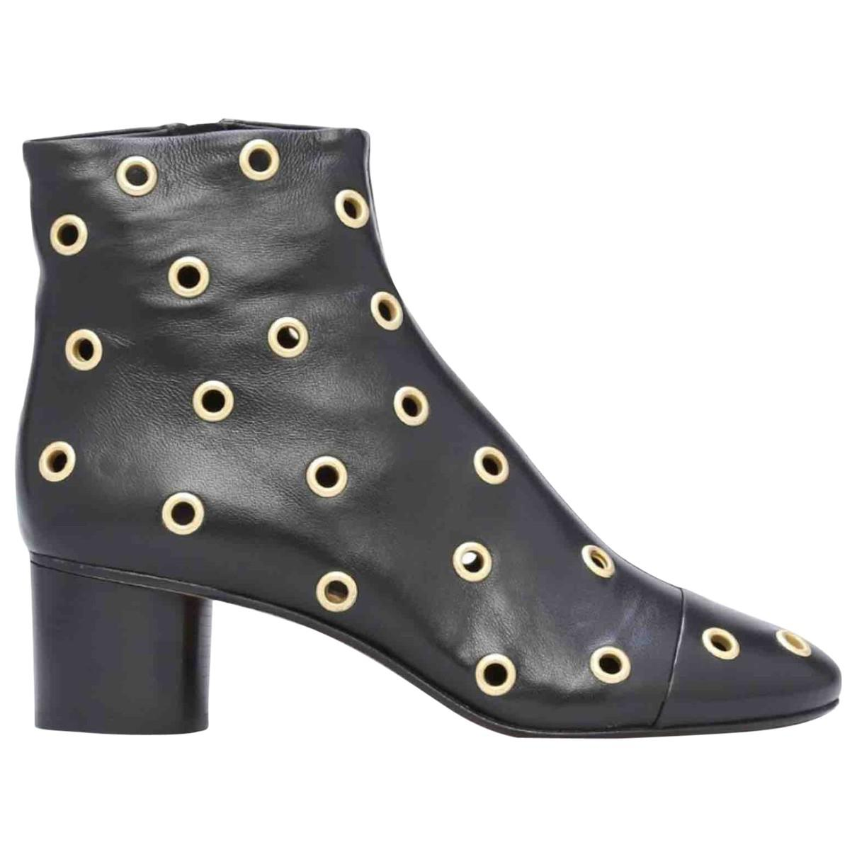 Isabel Marant Pre-owned Leather Ankle Boots in Black