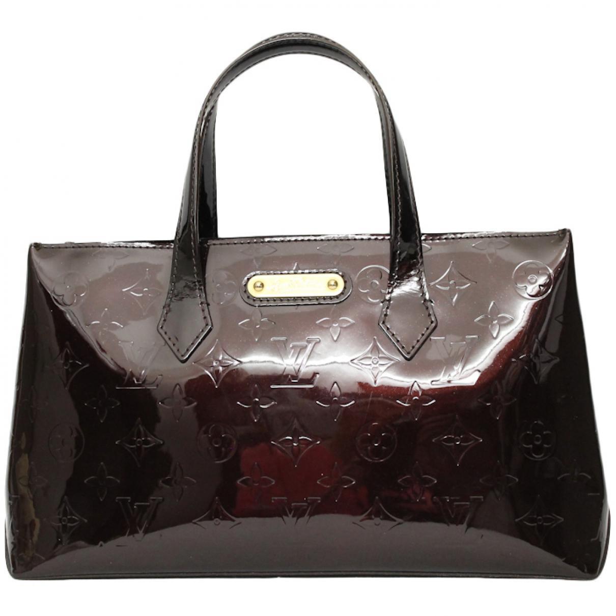Louis Vuitton Women S Burgundy Patent Leather Handbag