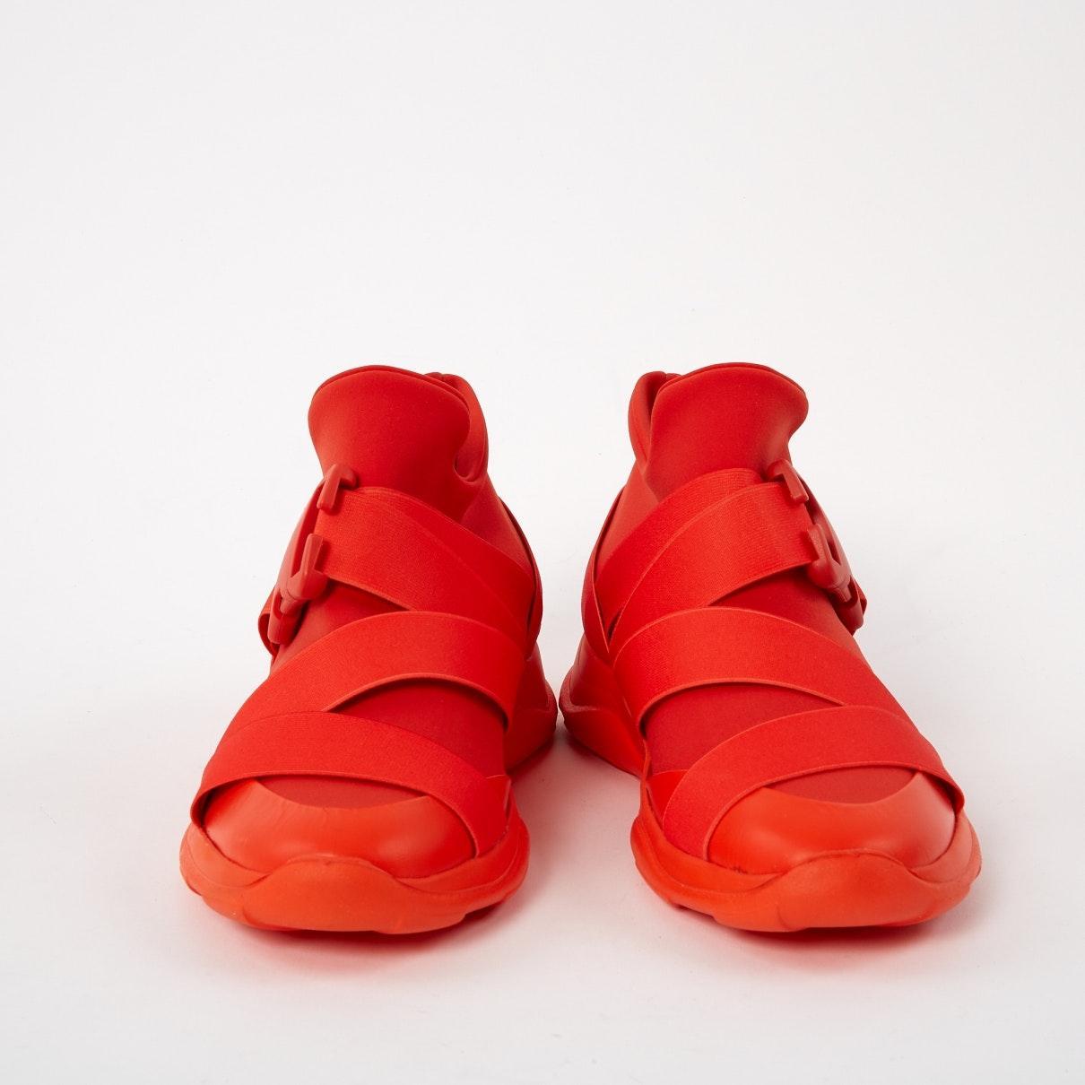 Baskets N en Toile Orange Christopher Kane en coloris Rouge mzZf