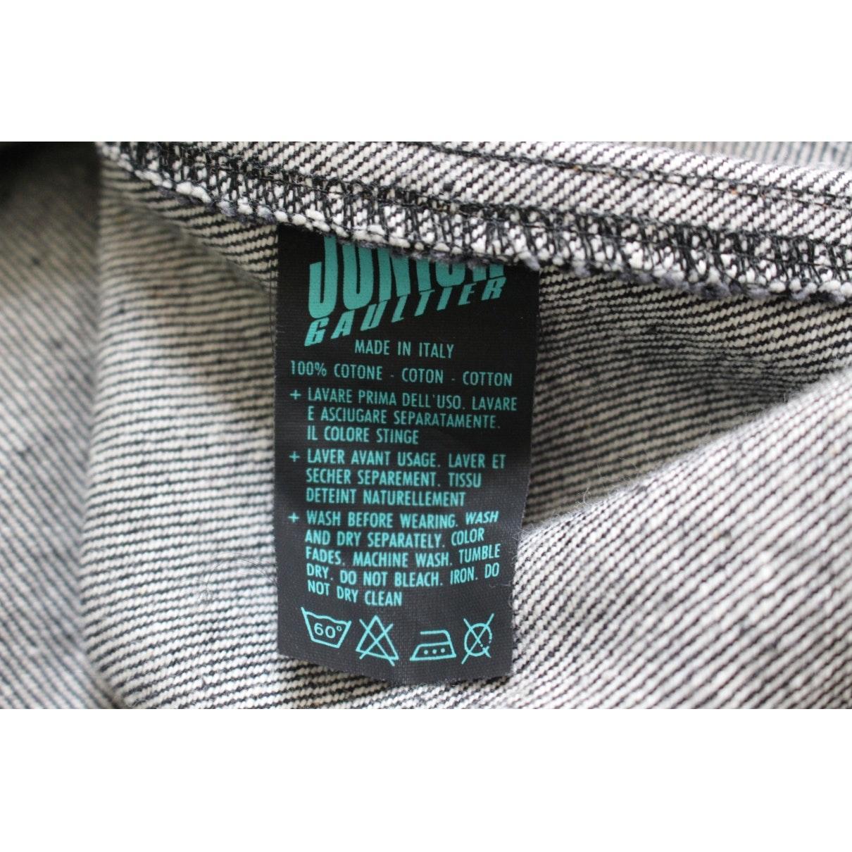Tissu Jean Paul Gaultier black denim - jeans jacket