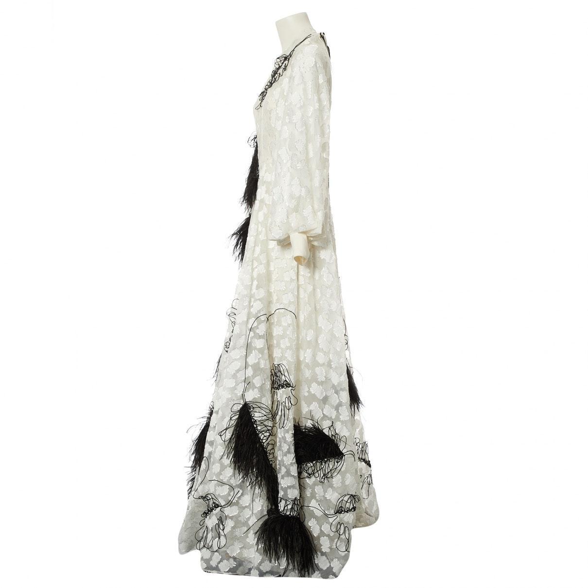 Vestido en poliéster blanco ROKSANDA de Tejido sintético de color Blanco
