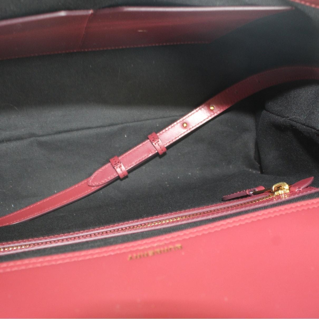 Sac à main N en Cuir Rouge Cuir Burberry en coloris Rouge N3sS