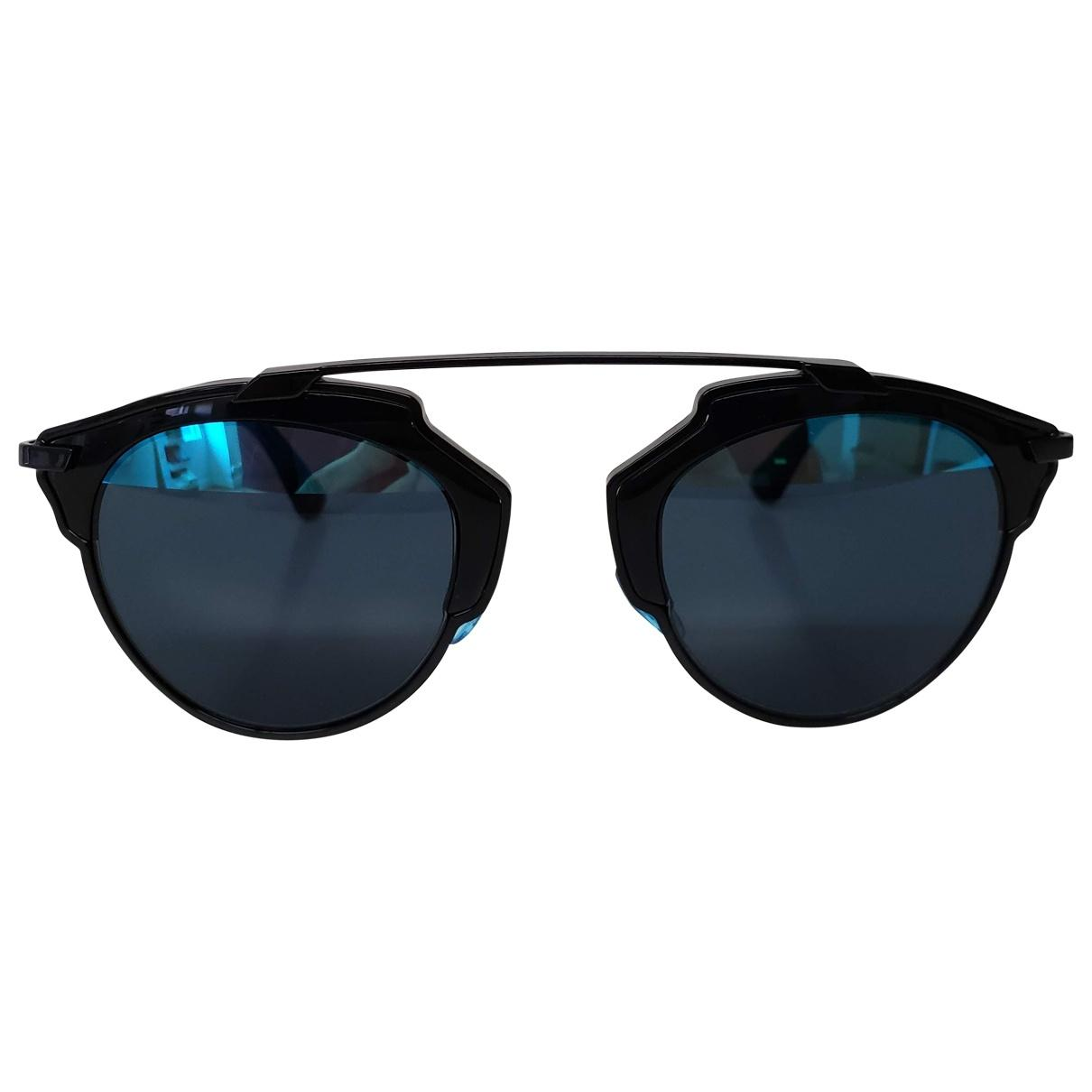 ac1c224462b Dior So Real Aviator Sunglasses in Black - Lyst