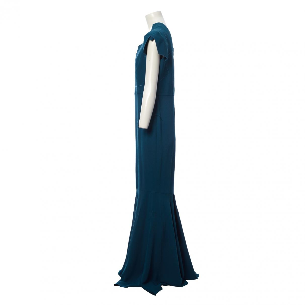 Maxi vestido Roland Mouret de Tejido sintético de color Azul