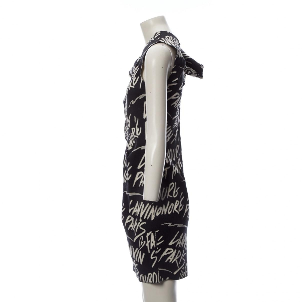 Vestido en algodón negro N Lanvin de Algodón de color Negro