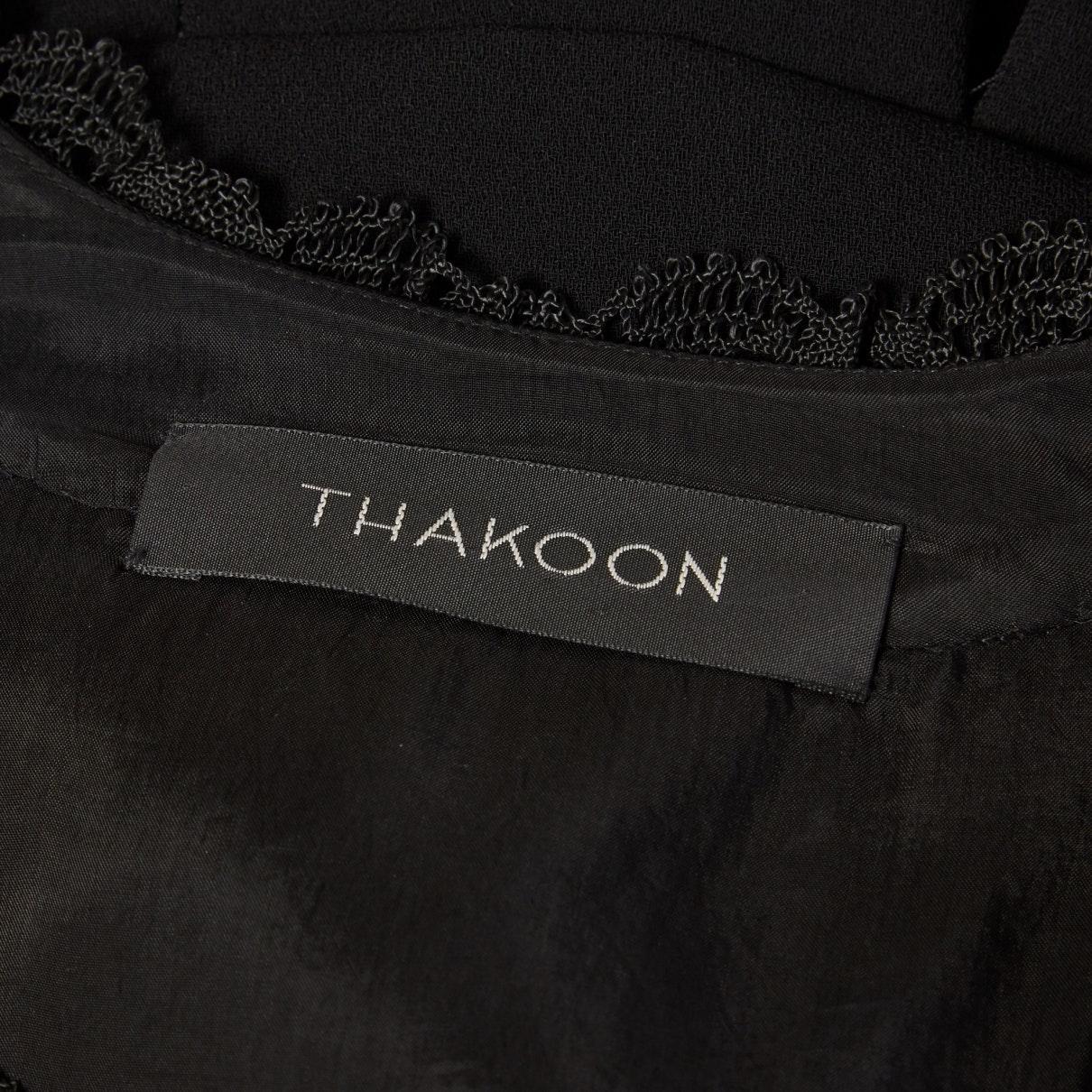 Vestido en poliéster negro N Thakoon de Tejido sintético de color Negro