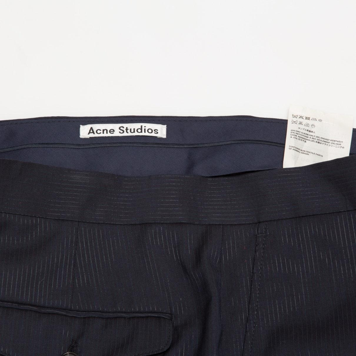 Acne Studios Navy Wool Trousers in Blue for Men