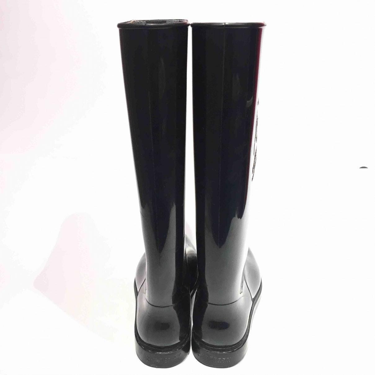 Botas en caucho negro Burberry de Caucho de color Negro