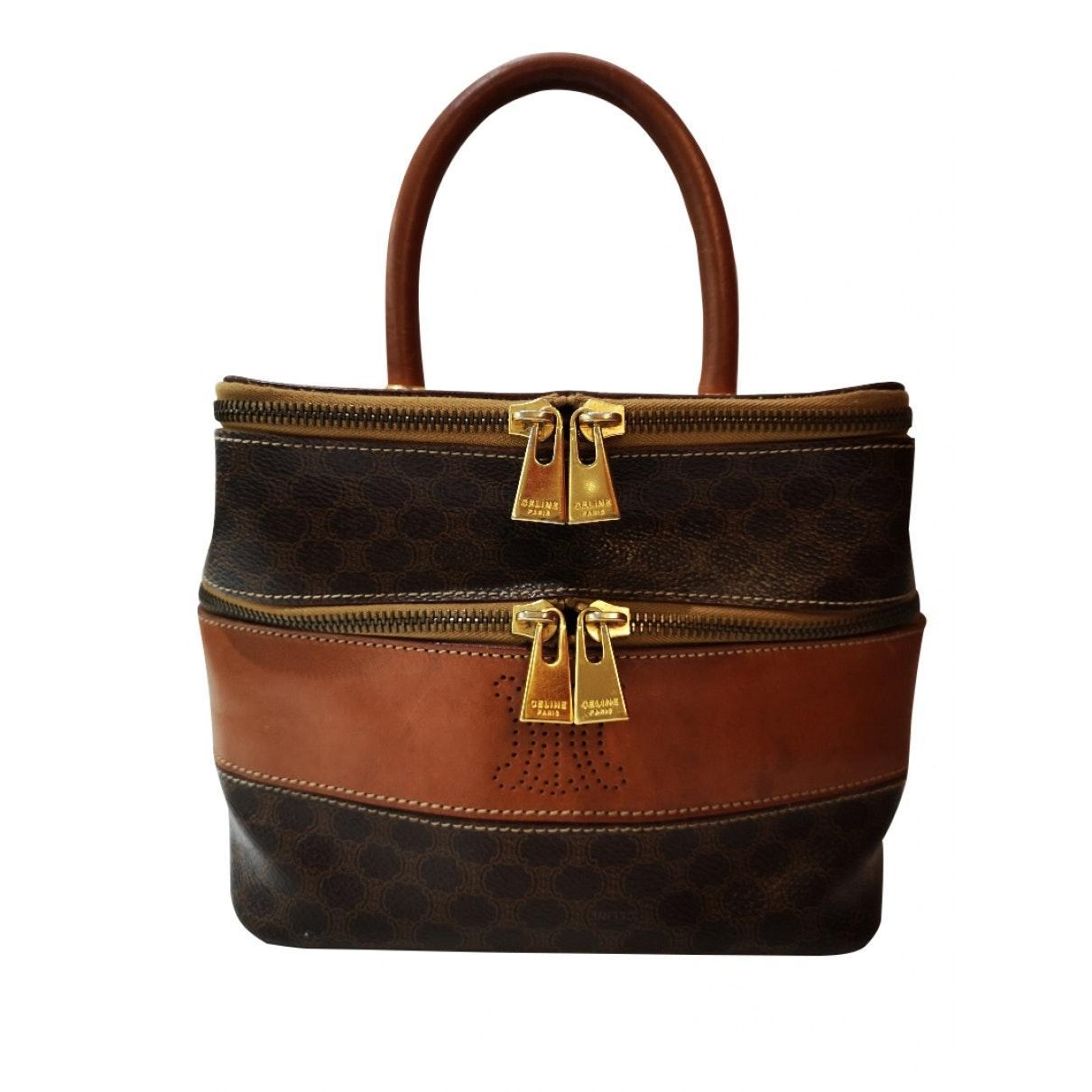 Celine Leder Leder Handtaschen in Braun CTmNG