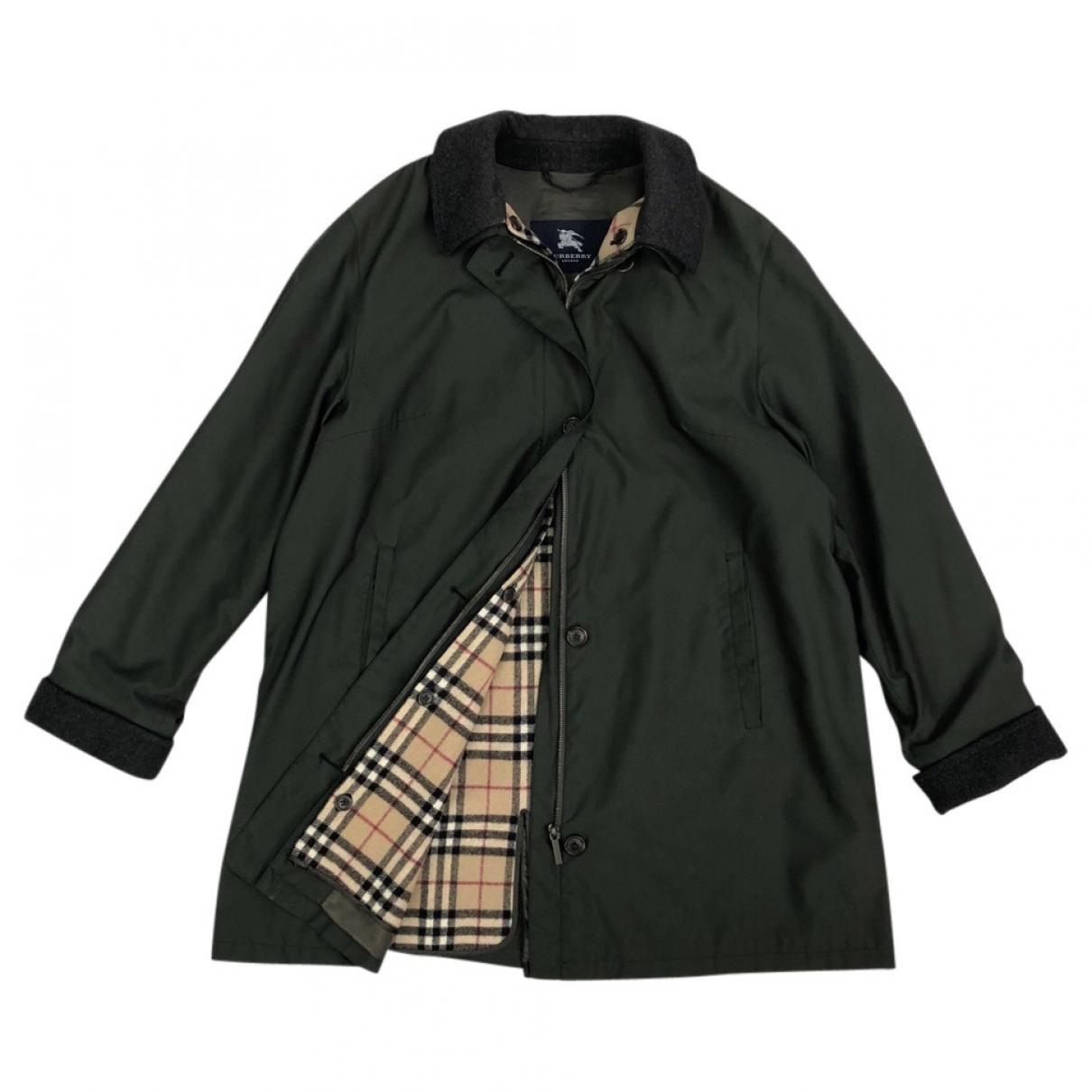 301a1106b4d1 Burberry Coat in Green - Lyst