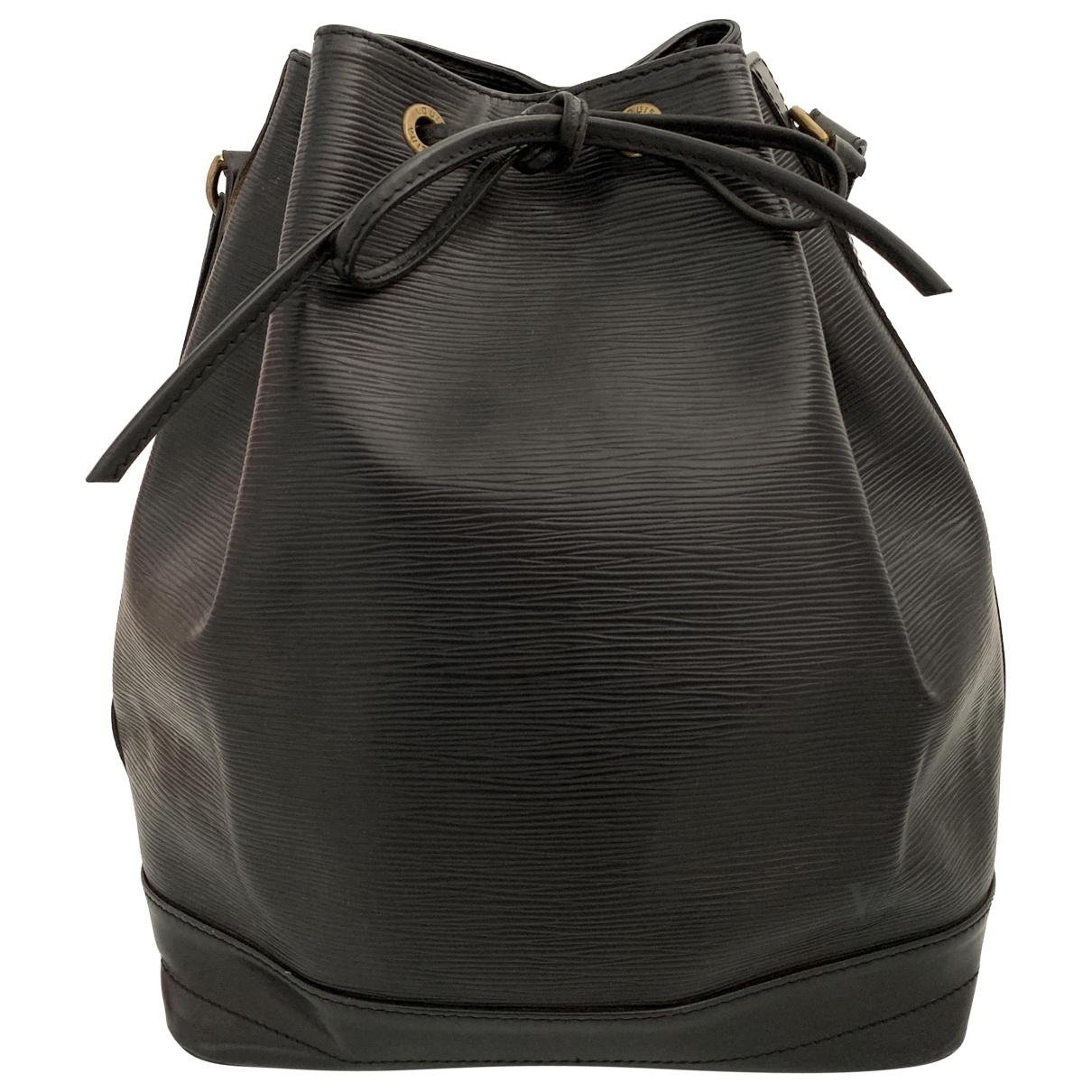 a184f36145b8a Lyst - Louis Vuitton Pre-owned Vintage Noé Black Leather Handbags in ...