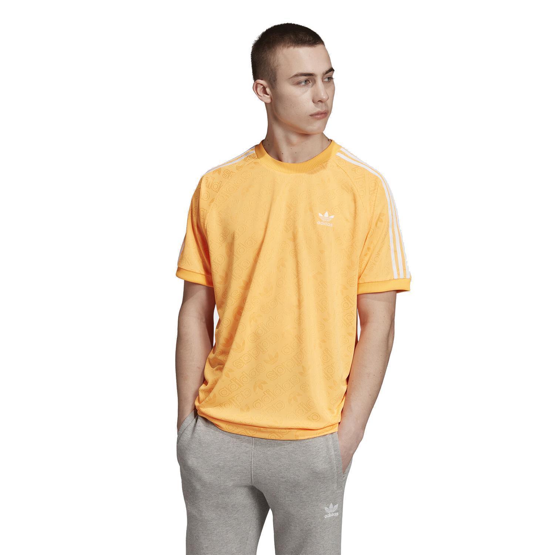 adidas Originals Synthetic Monogram Jersey in Orange - Lyst