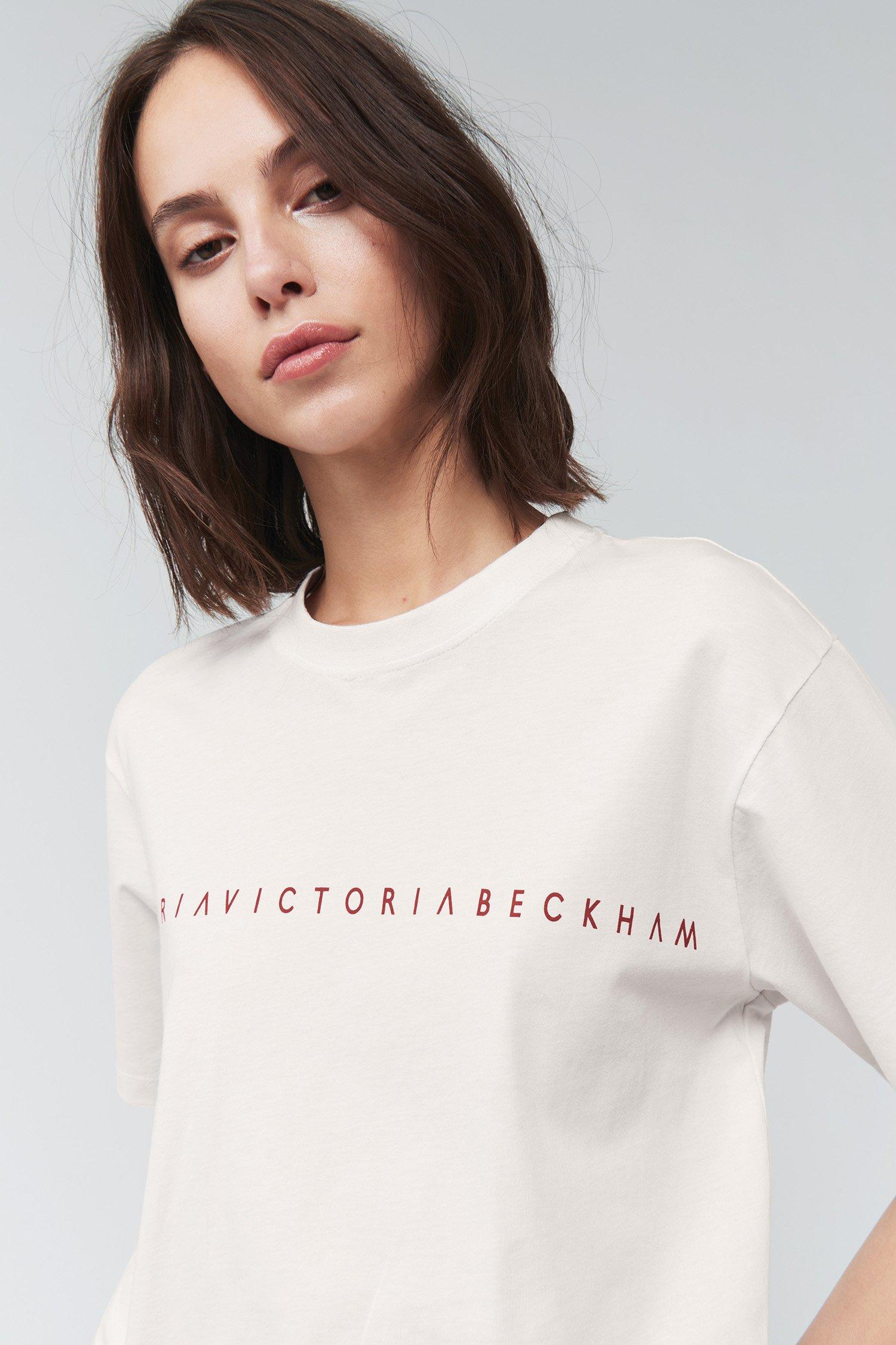finest selection 20f5e 4301a Victoria Beckham Cotton Victoria Logo Tee - Lyst