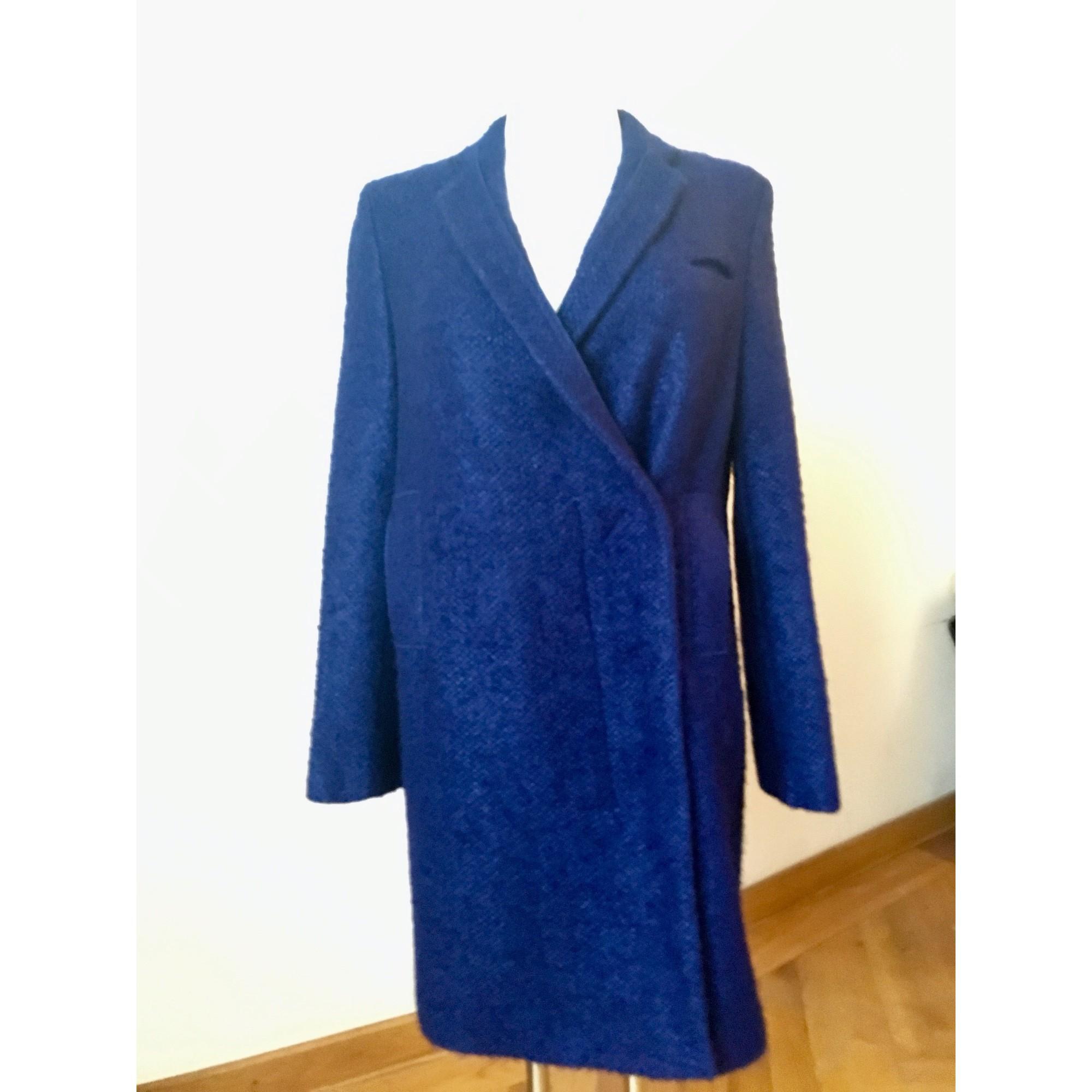 Manteau laine bleu CoSTUME NATIONAL en coloris Bleu VxZYI