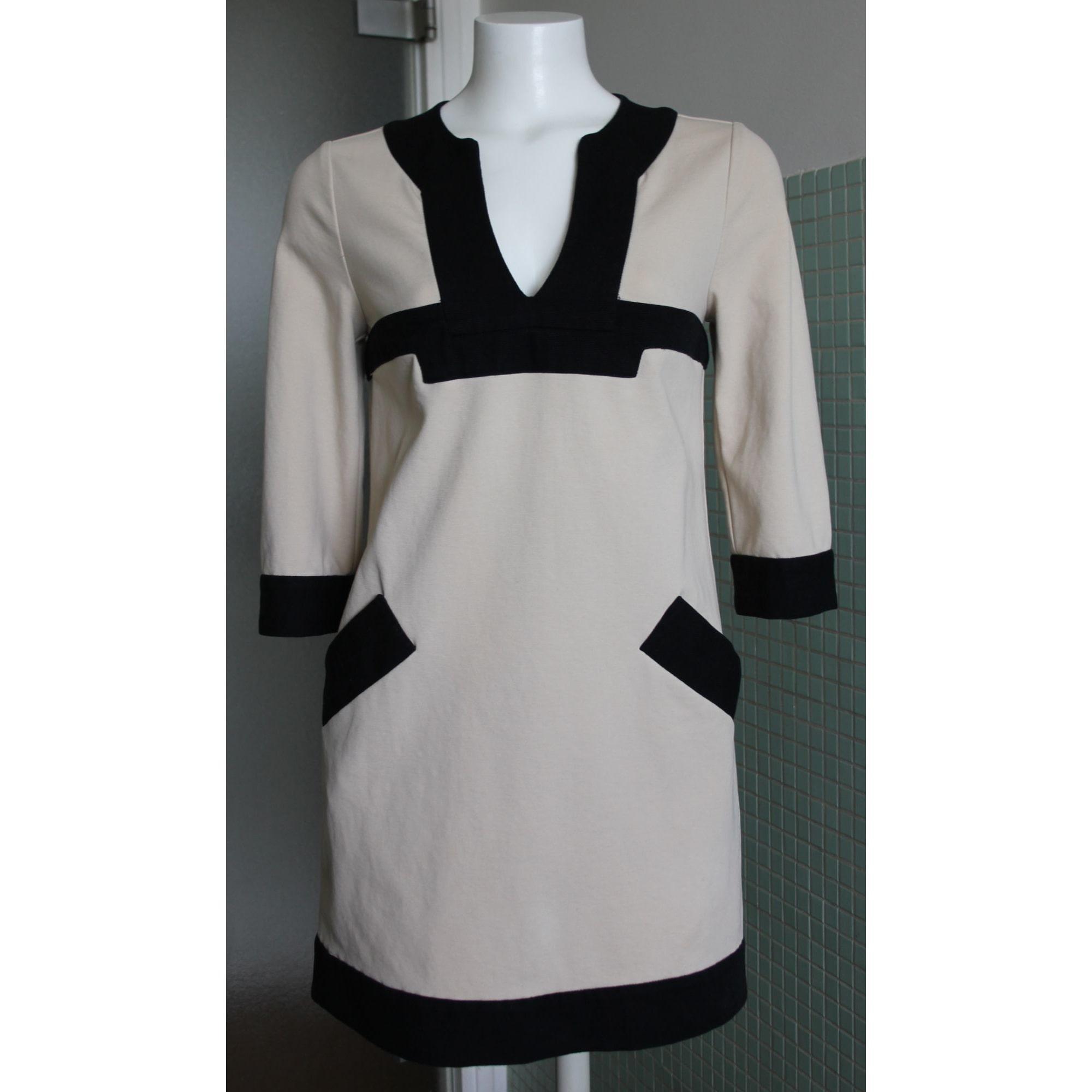 Robe courte coton beige Diane von Furstenberg en coloris Neutre