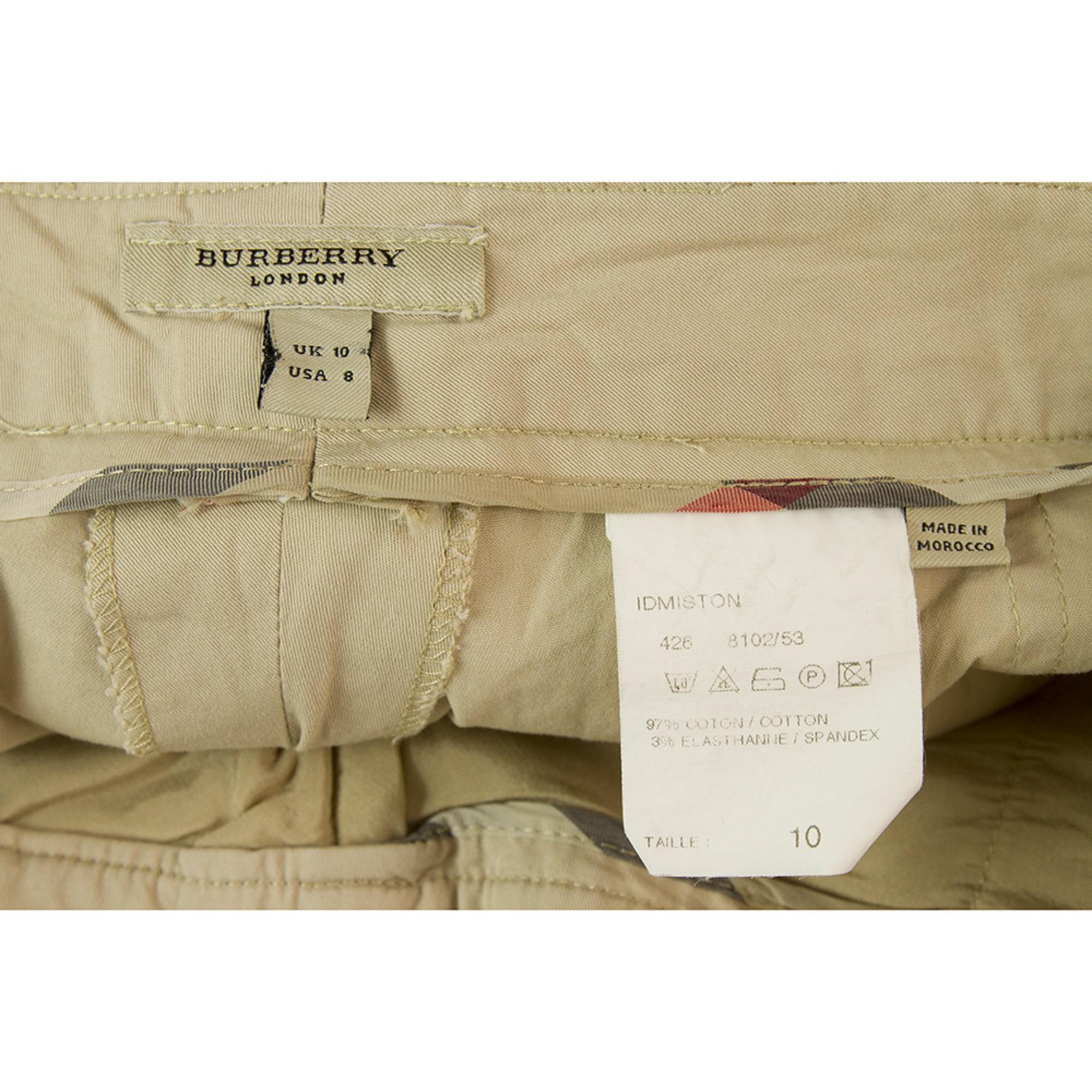 Bermuda coton beige Burberry en coloris Neutre