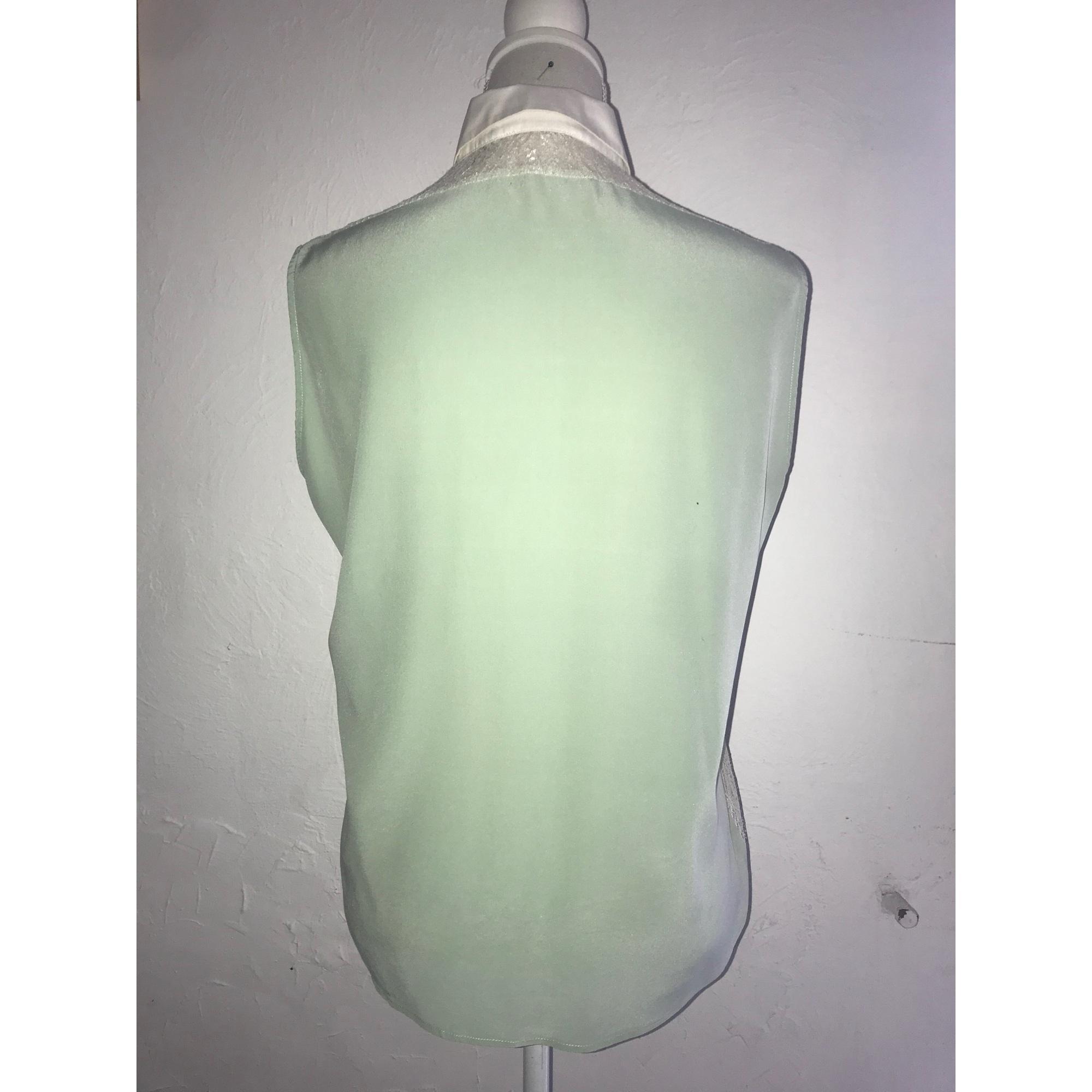 Chemisier soie vert Sandro en coloris Vert