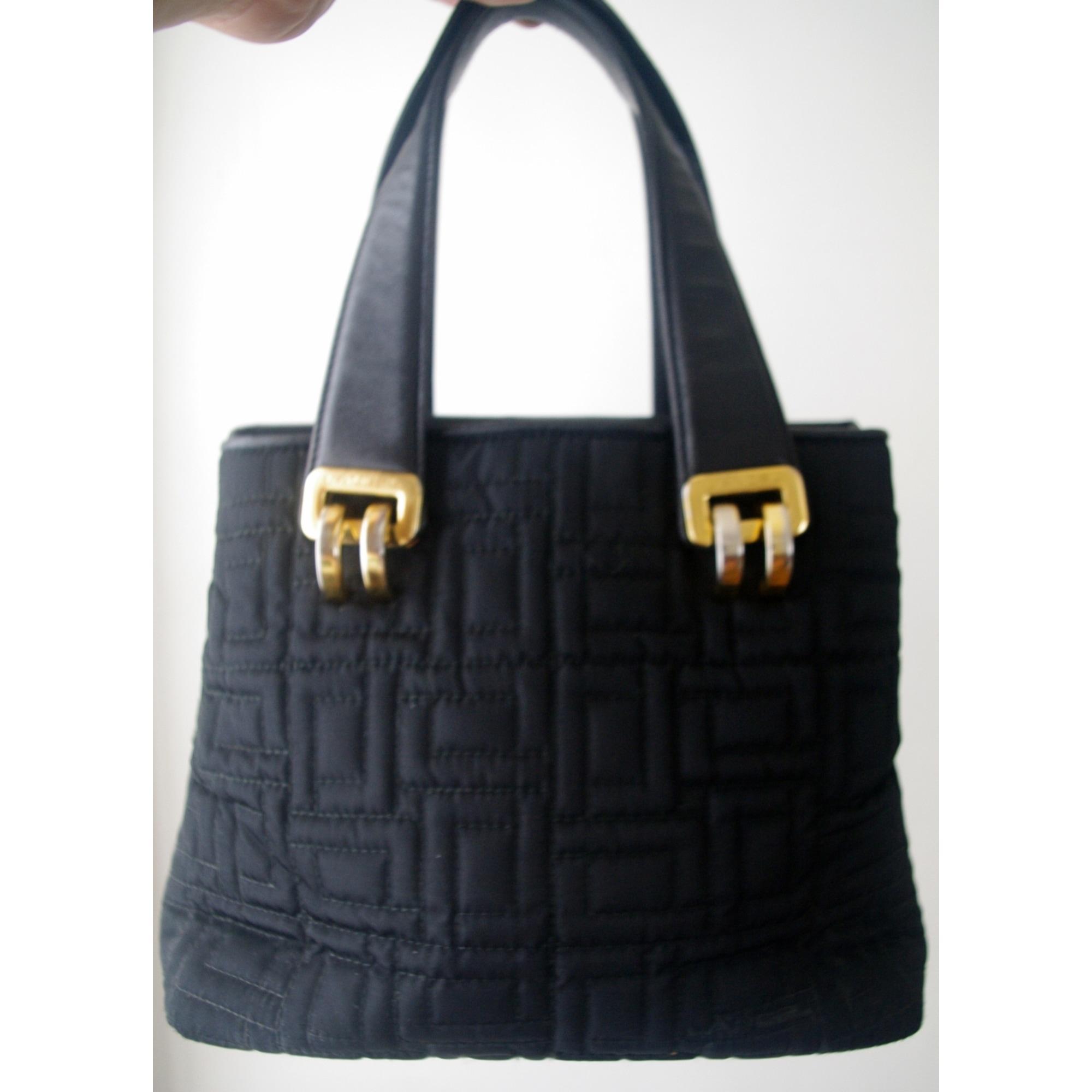 Sac à main en cuir toile noir Lancel en coloris Noir D6gp