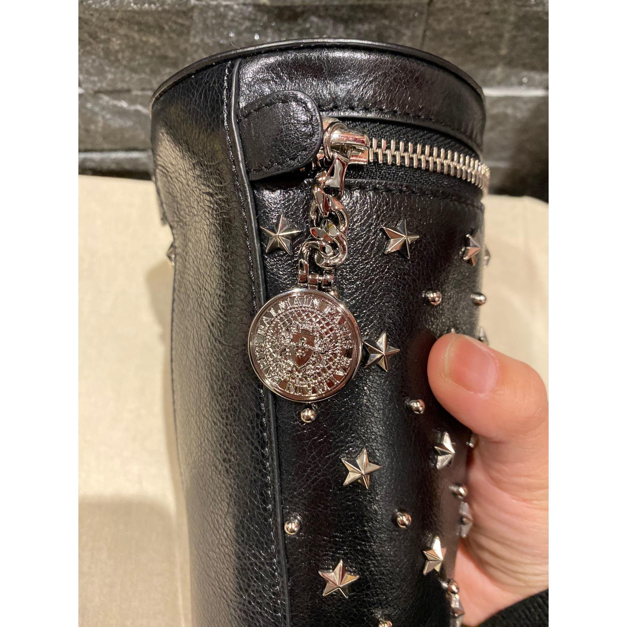 Sac à main en cuir cuir noir Balmain en coloris Noir EW1n