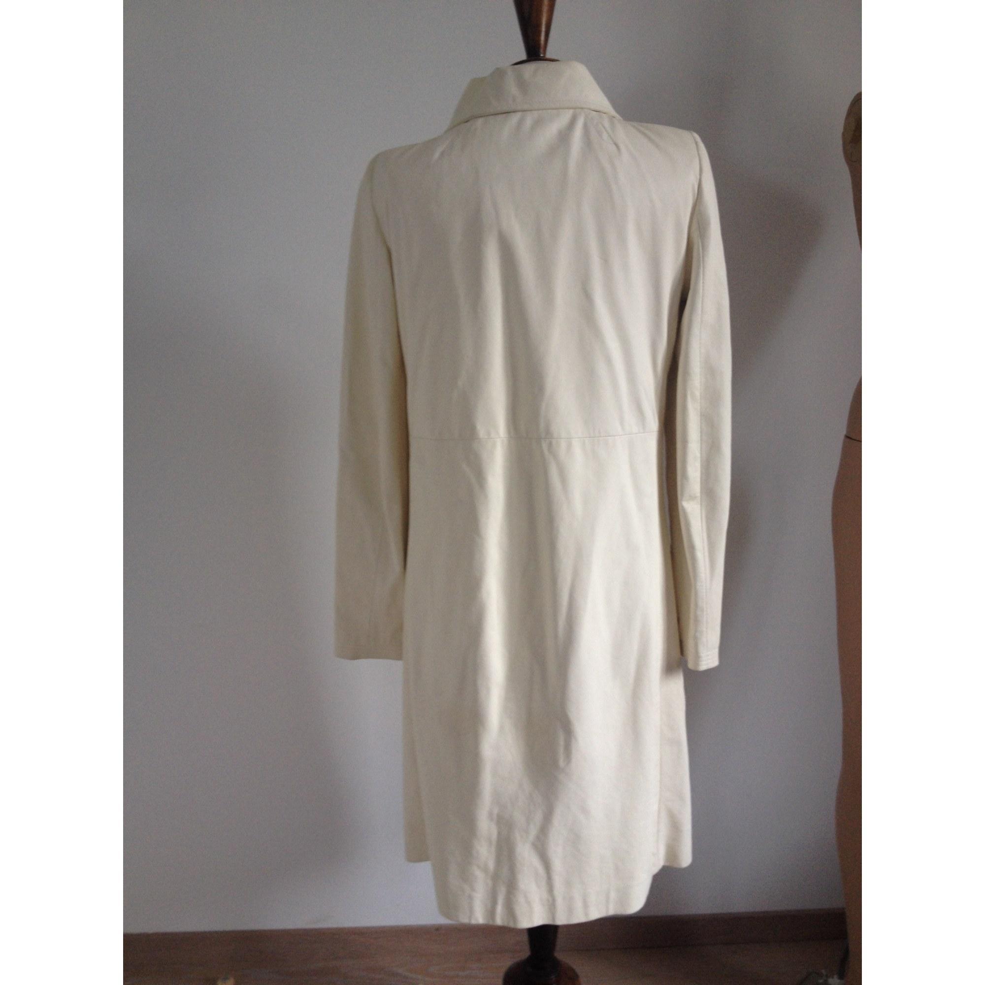 Manteau en cuir cuir blanc Christian Lacroix en coloris Blanc jUE0q