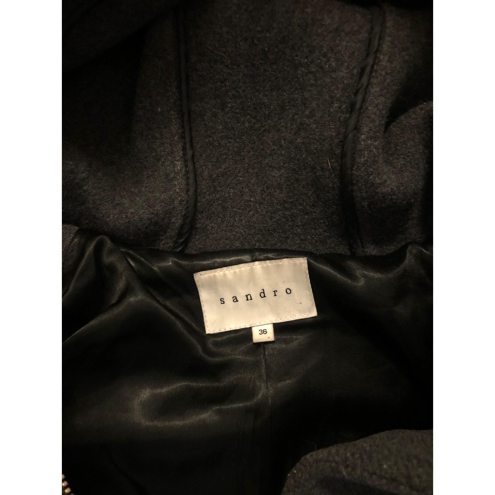 Manteau laine gris Sandro en coloris Gris guqZw