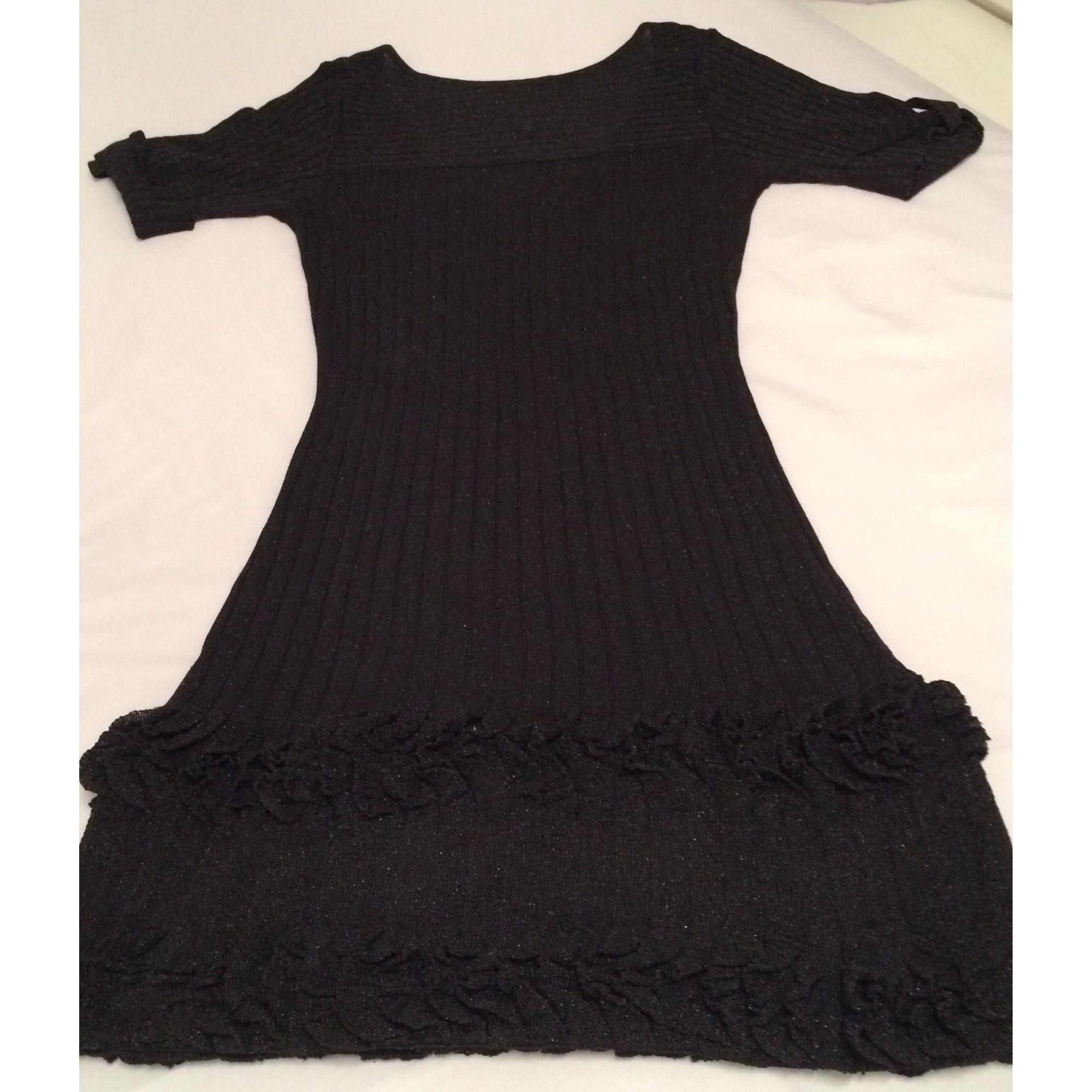 Robe courte viscose polyester noir Synthétique Karen Millen en coloris Noir