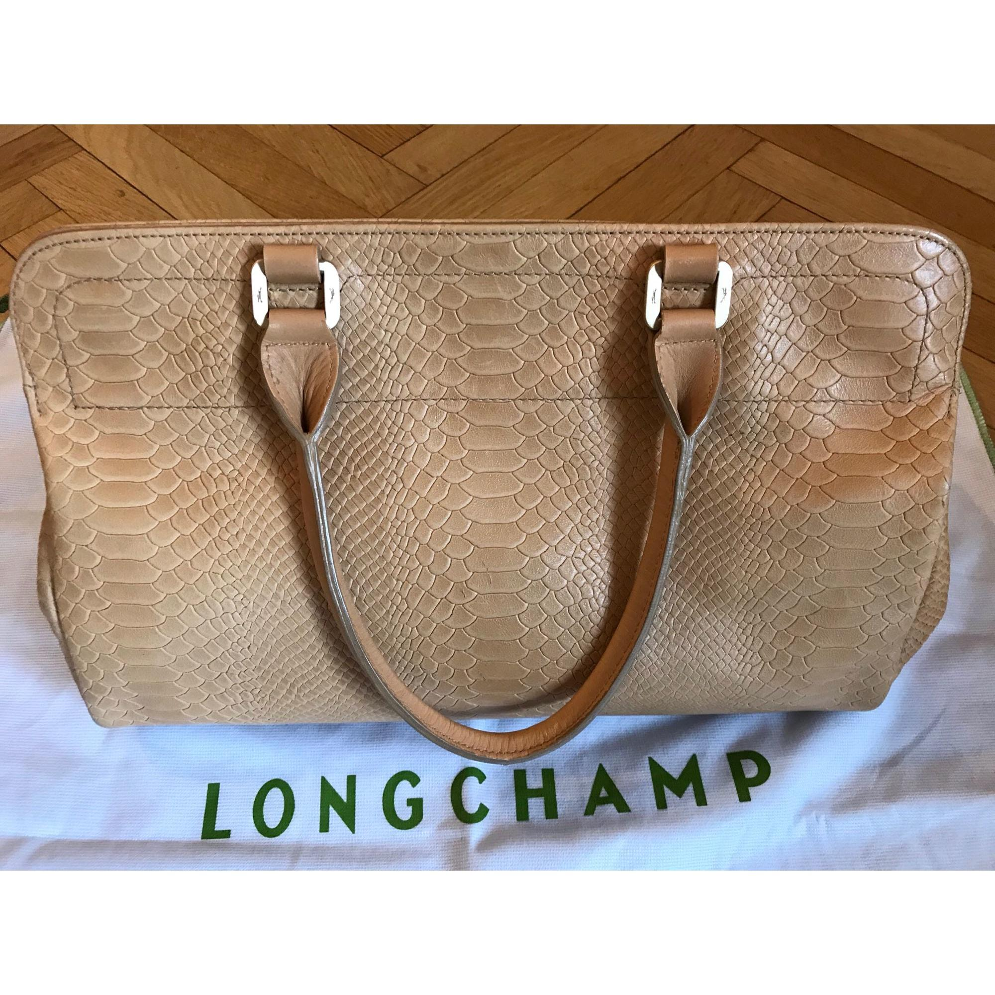 Sac à main en cuir cuir beige Longchamp en coloris Neutre pE5Z