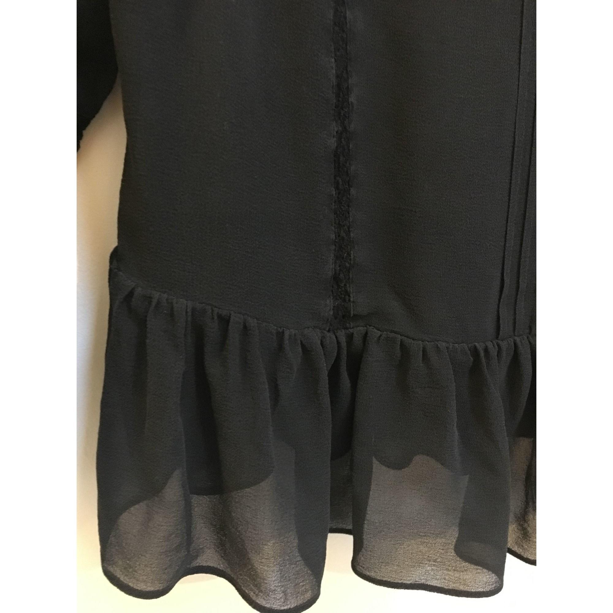 Chemise soie noir Karen Millen en coloris Noir