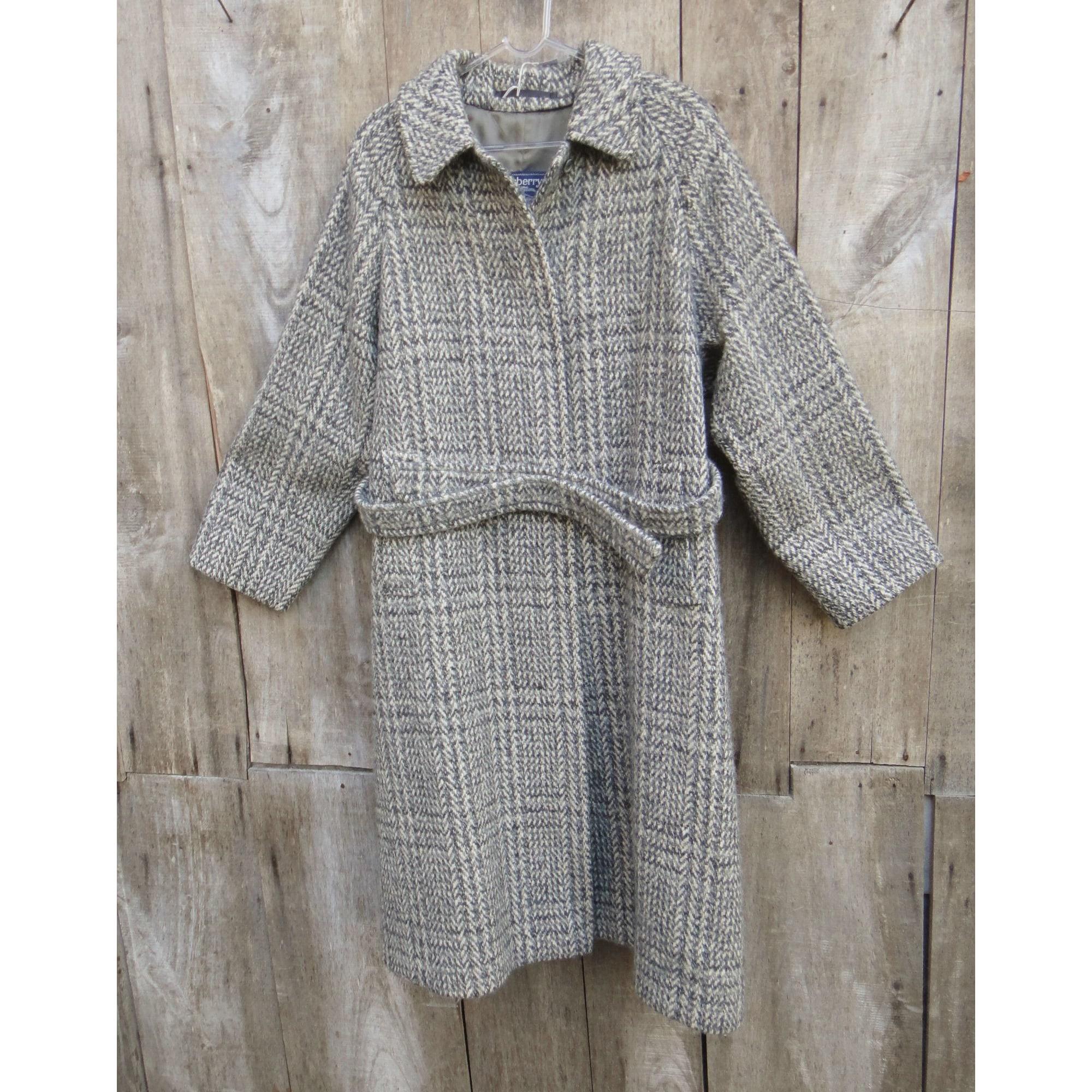 Manteau pure laine vierge gris Burberry en coloris Gris 9QEQH