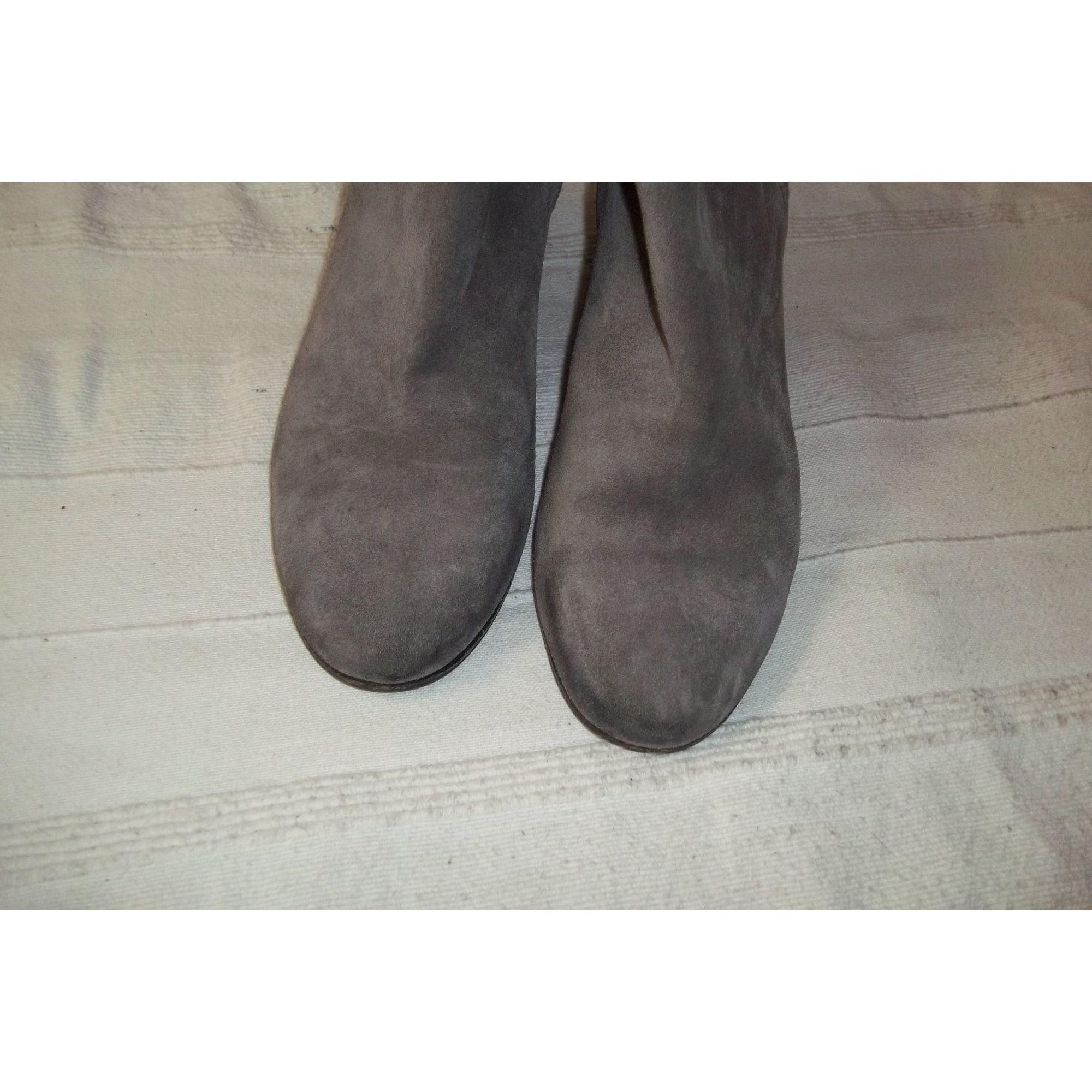 Bottines & low boots à talons daim gris Plumes d'oie Golden Goose Deluxe Brand en coloris Gris