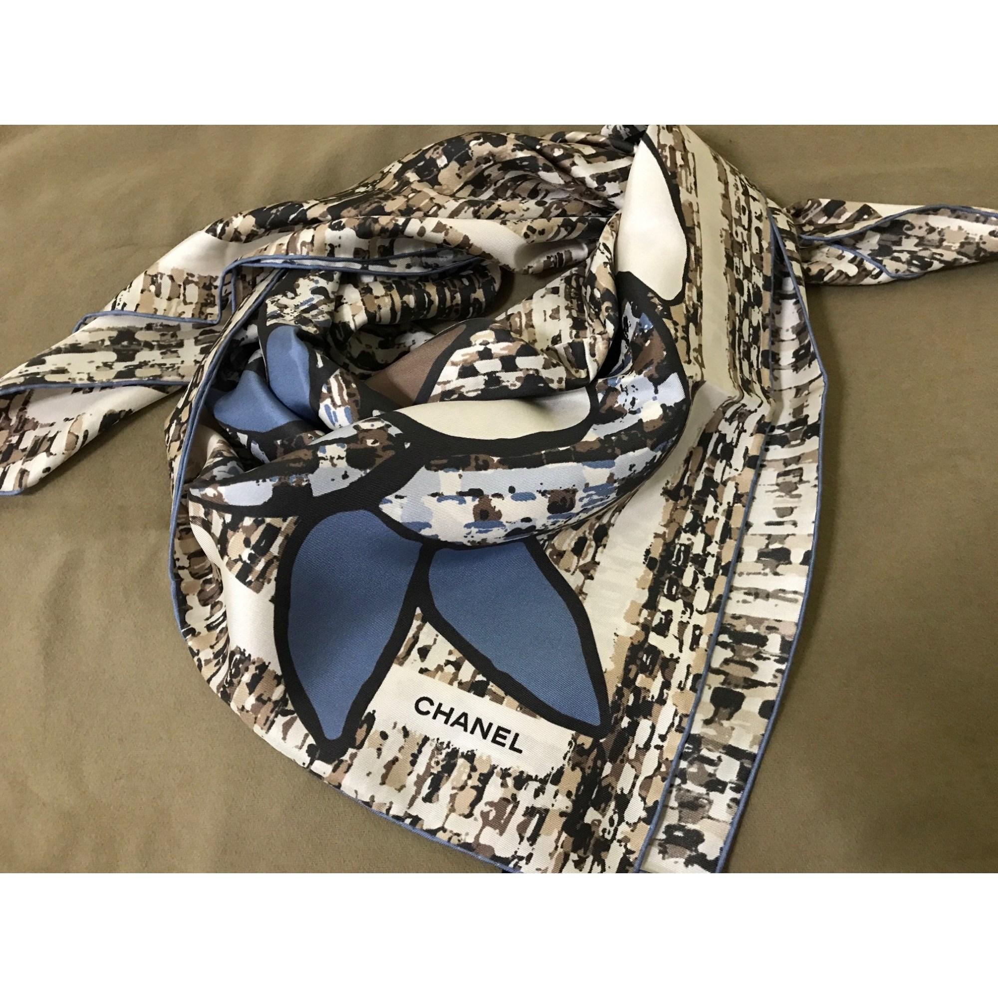nouvelle version beau lustre fournir beaucoup de Foulard soie bleu femme