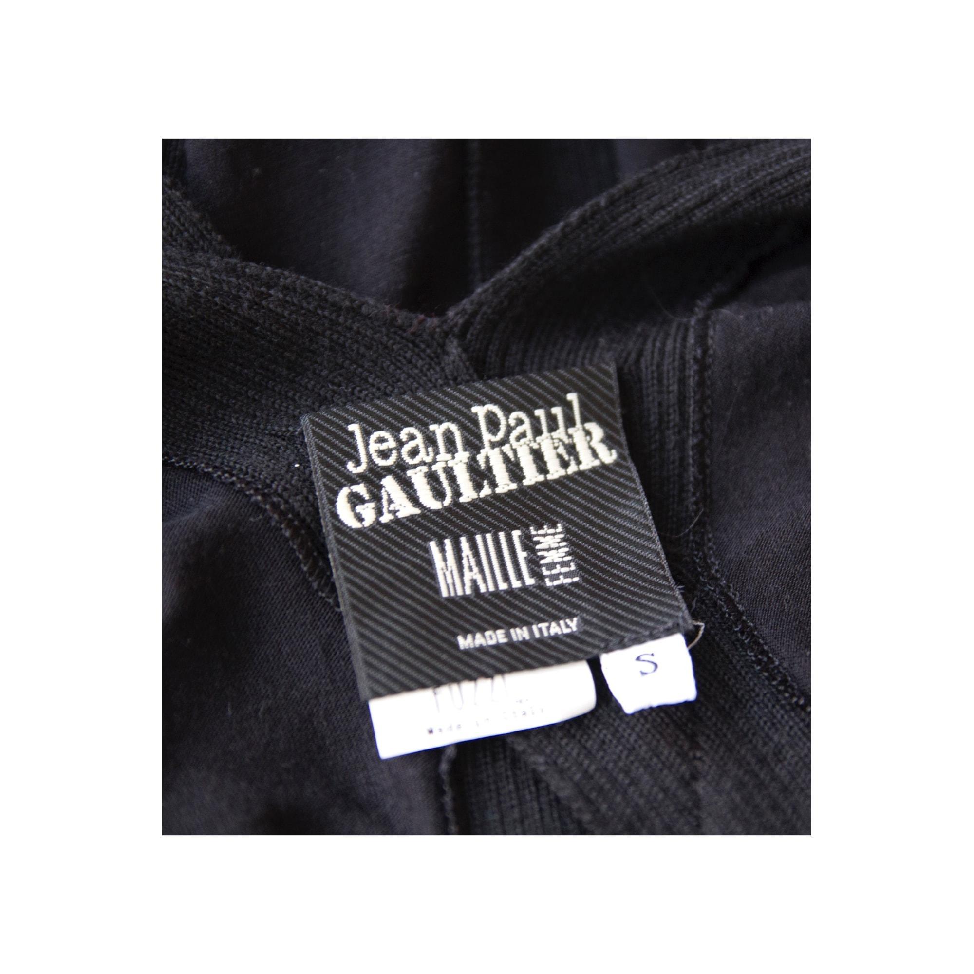 Robe mi-longue cachemire noir Jean Paul Gaultier en coloris Noir