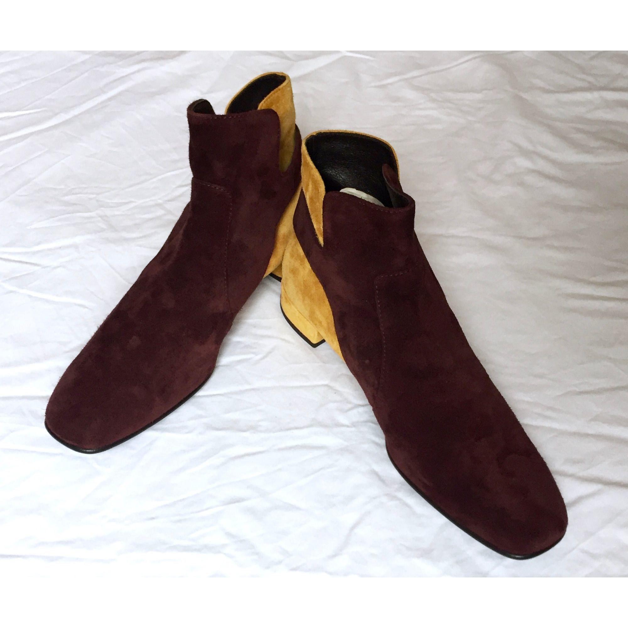 Bottines & low boots motards daim multicolore Roger Vivier