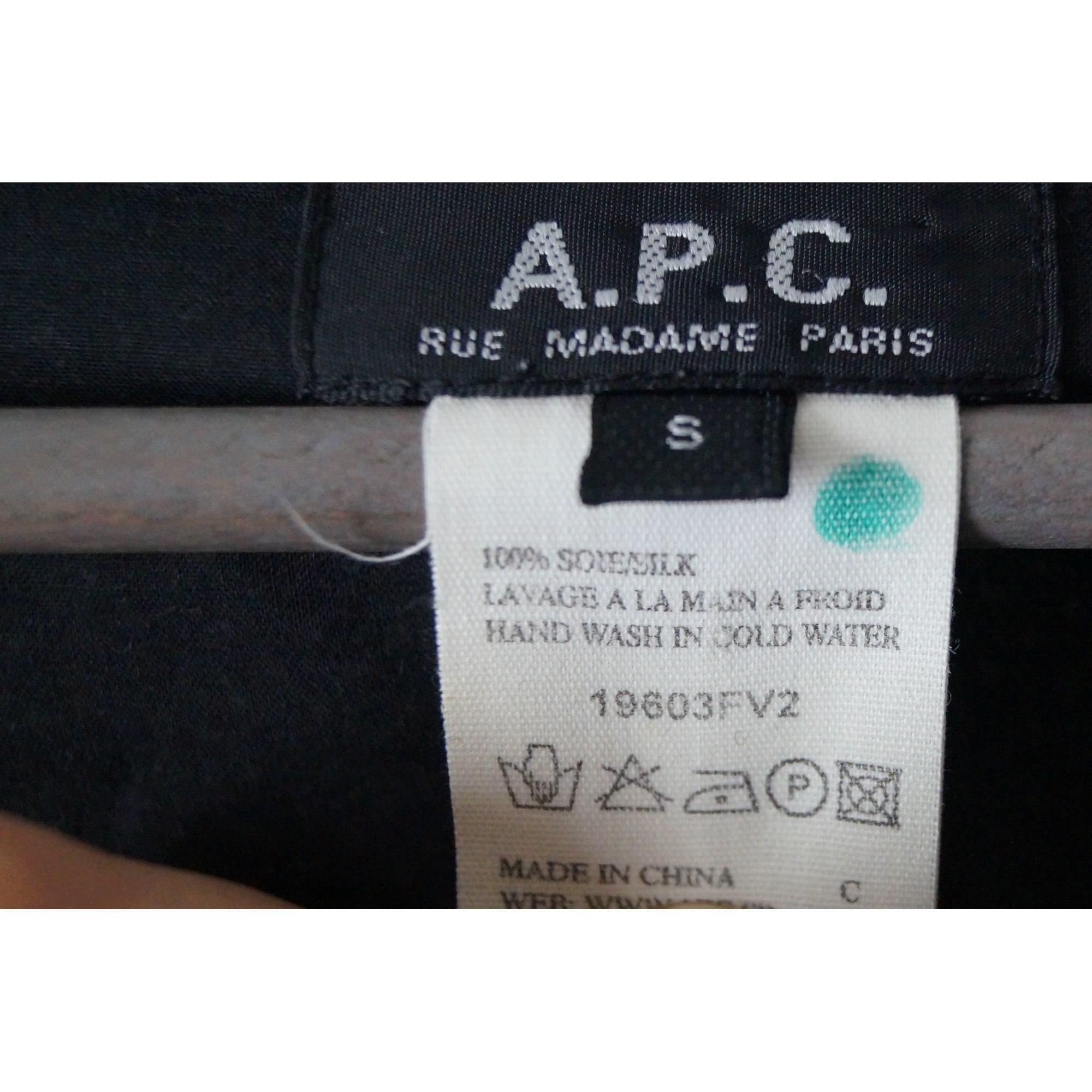 Robe courte soie bleu A.P.C. en coloris Bleu