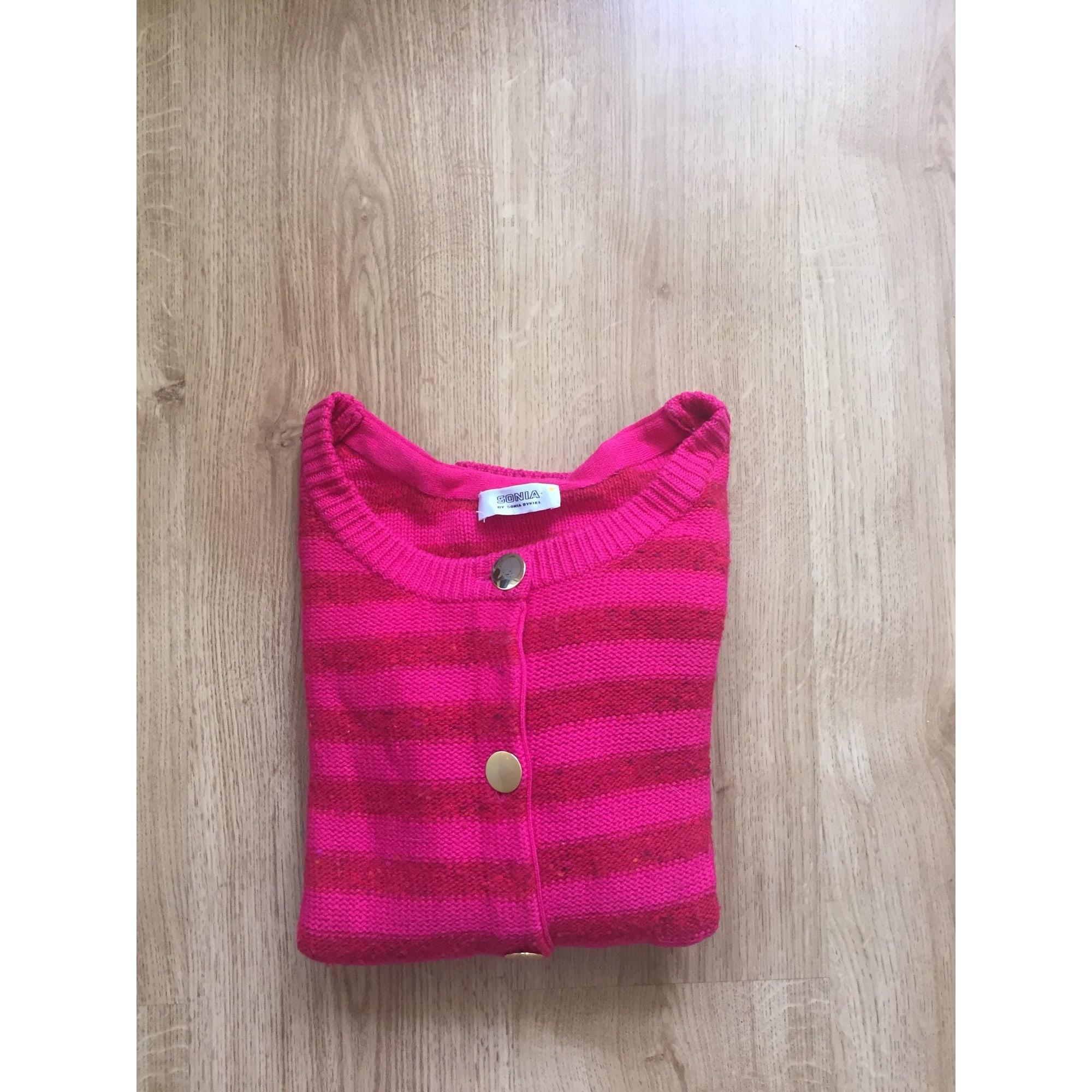Gilet, cardigan laine rose Sonia by Sonia Rykiel en coloris Rose
