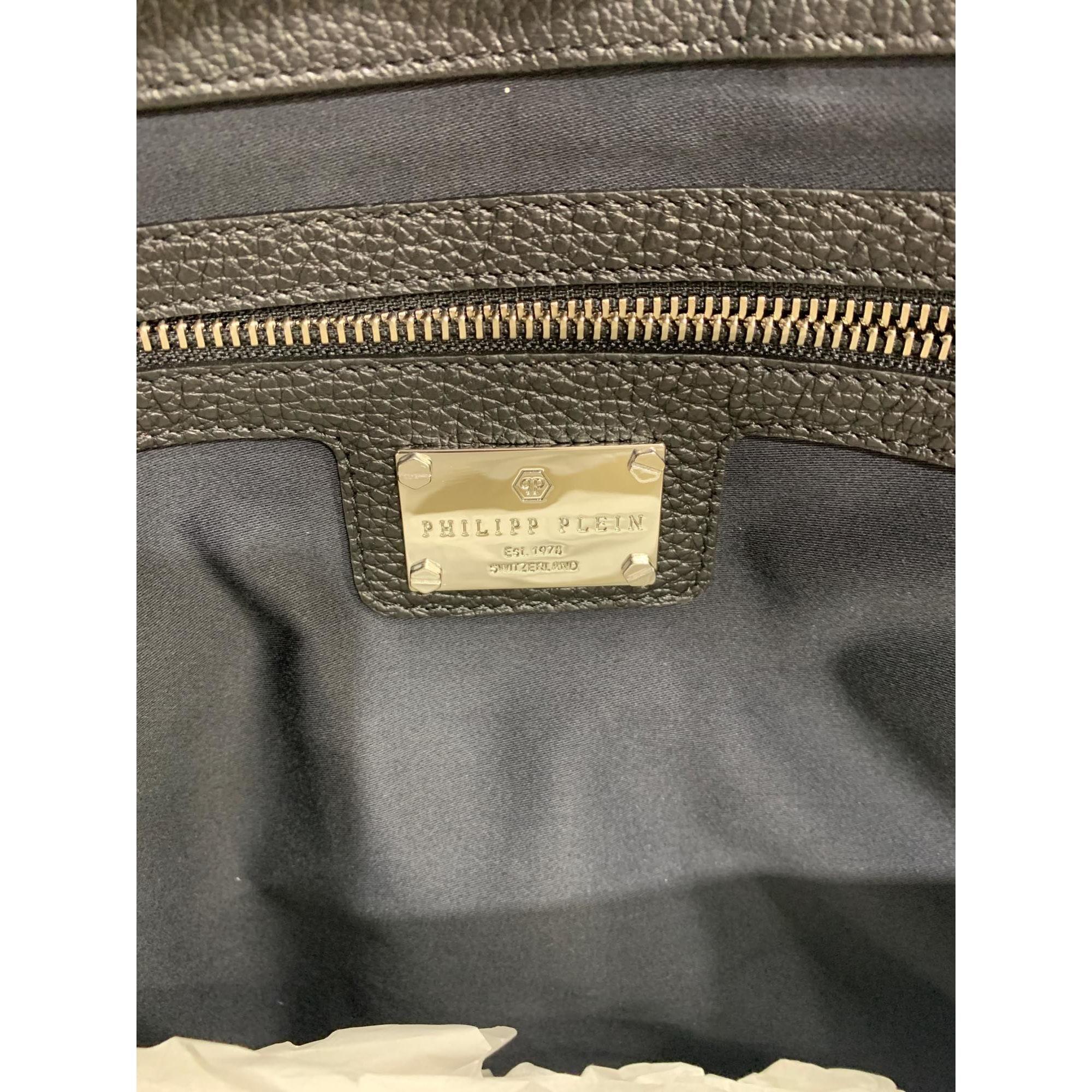 Porte document, serviette cuir noir Philipp Plein pour homme en coloris Noir